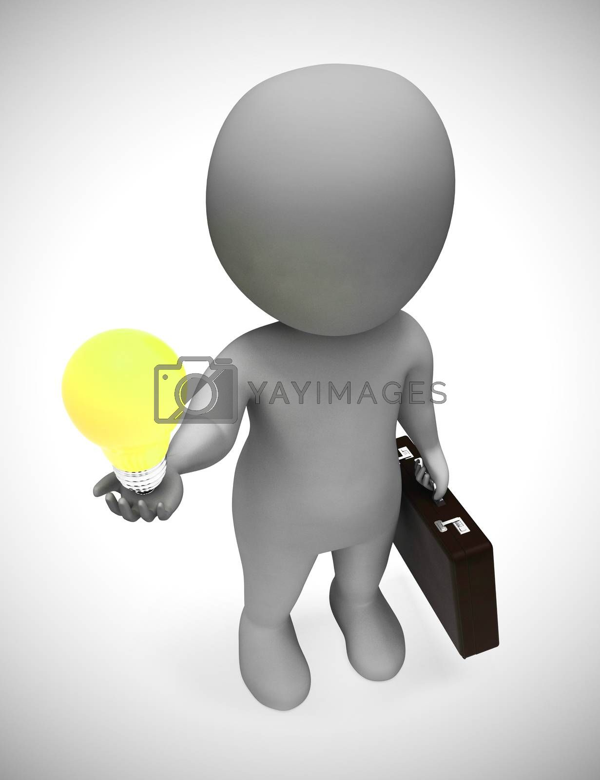 Royalty free image of Ideas and inspiration concept depicted by a light bulb - 3d illu by stuartmiles