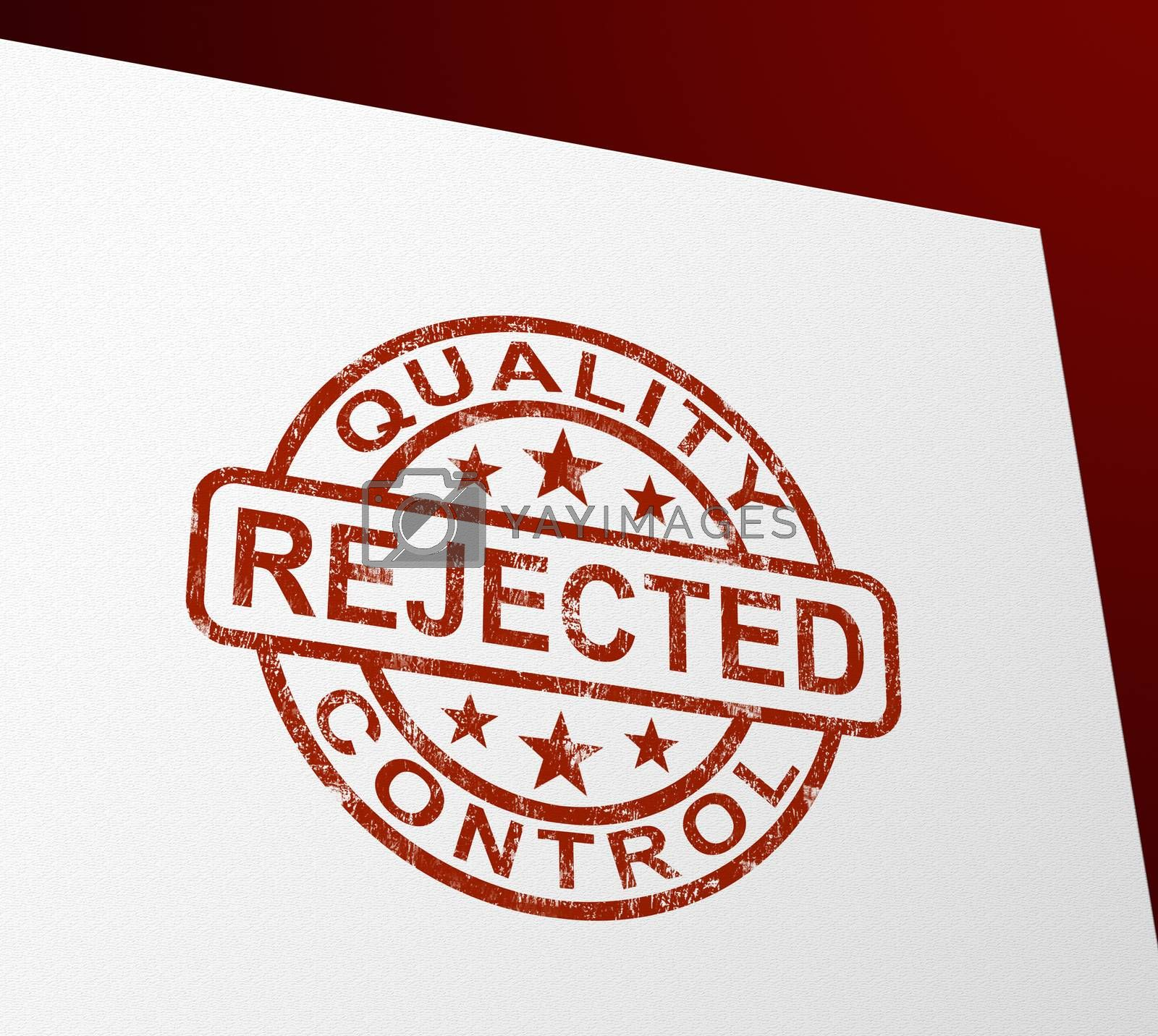 Royalty free image of Reject or rejected stamp means refused entry or denied applicati by stuartmiles
