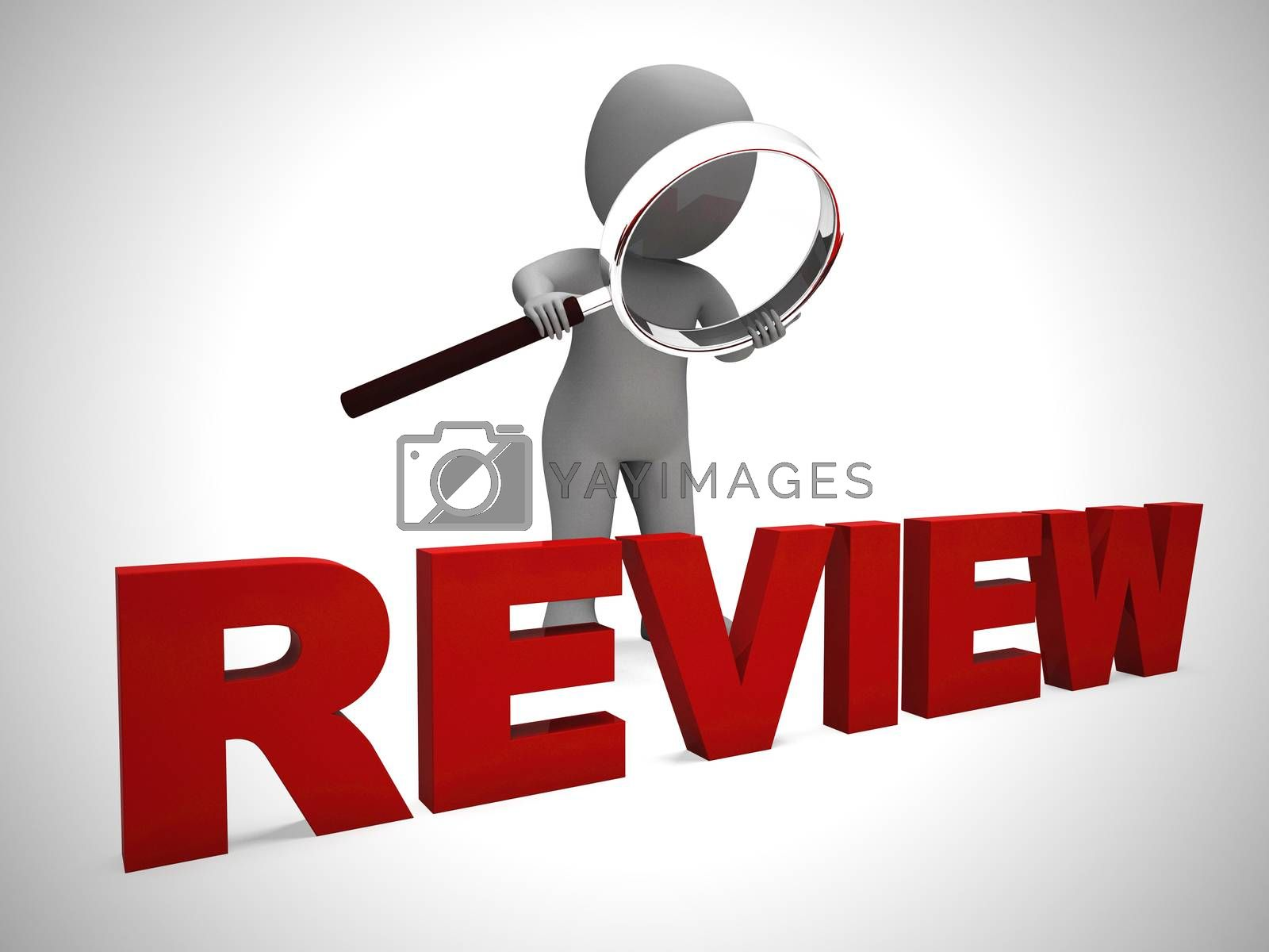 Royalty free image of Review concept icon means examining and checking through study - by stuartmiles