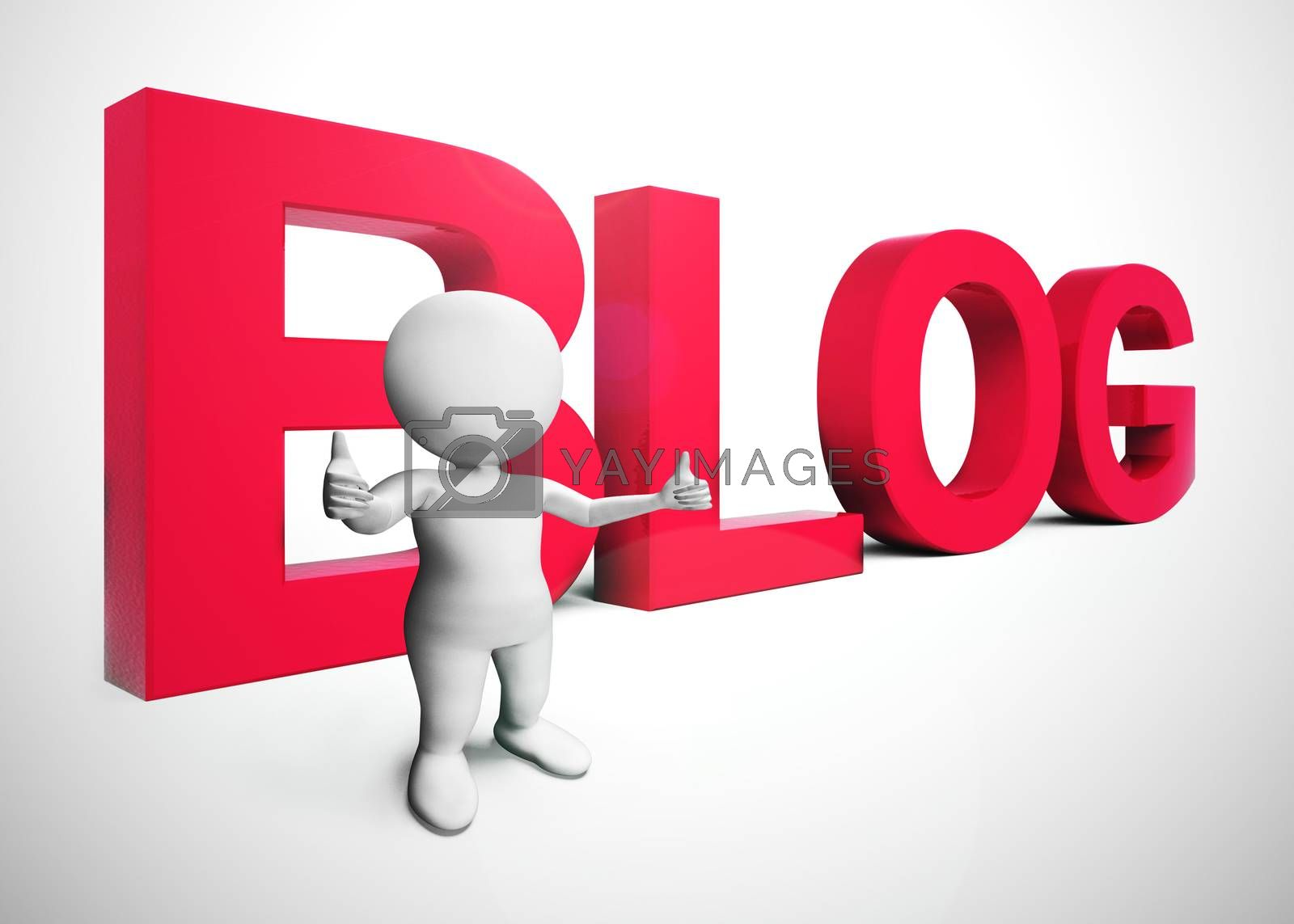 Royalty free image of Blog or blogging website icon showing online journals and writin by stuartmiles