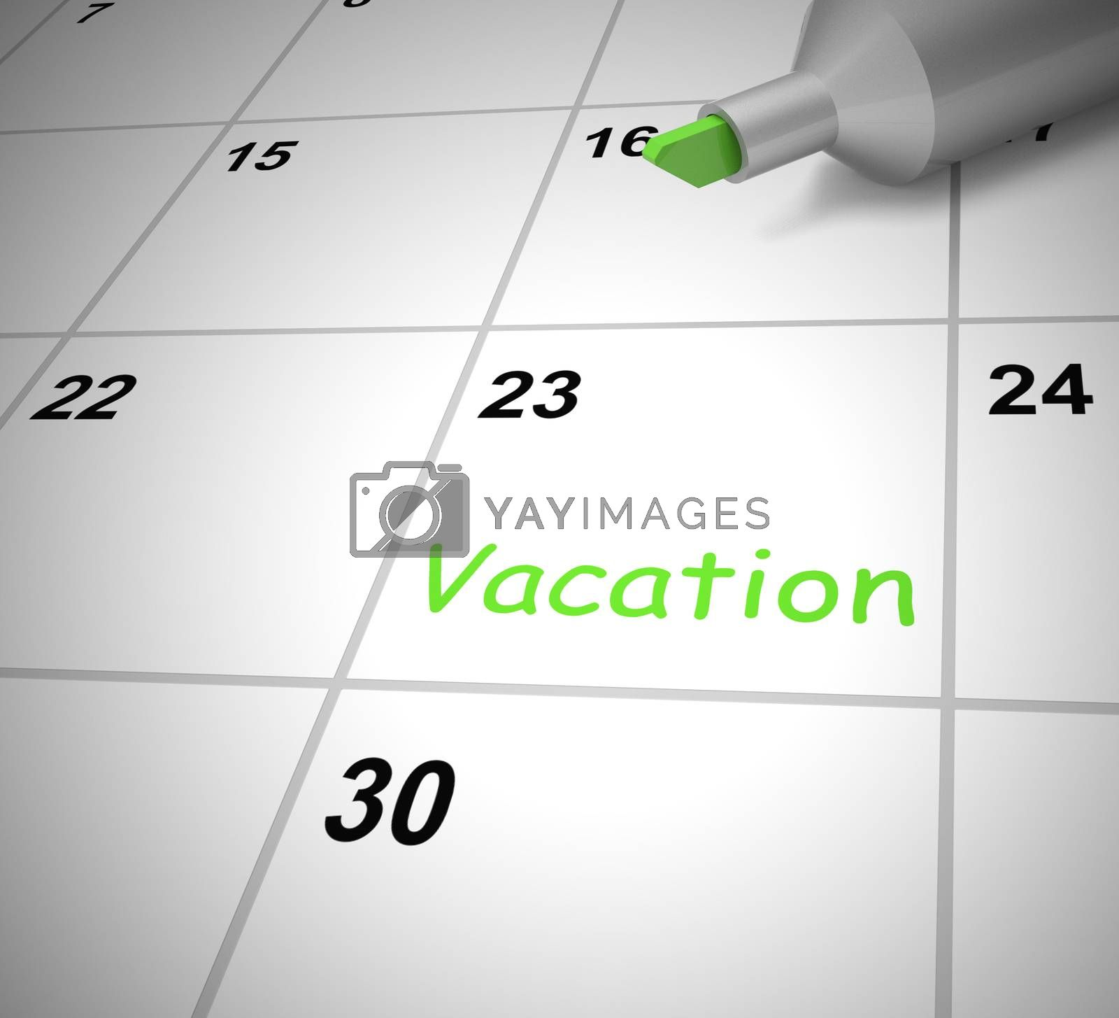 Royalty free image of Vacation concept icon means having a holiday or taking time off  by stuartmiles