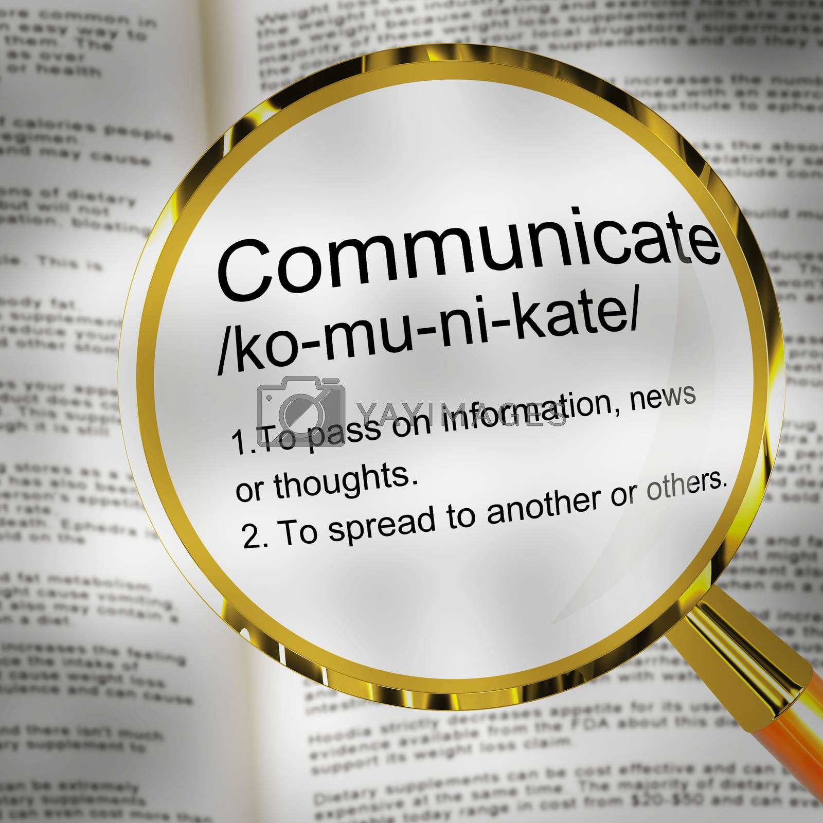 Royalty free image of Communicate definition concept means networking or connecting on by stuartmiles