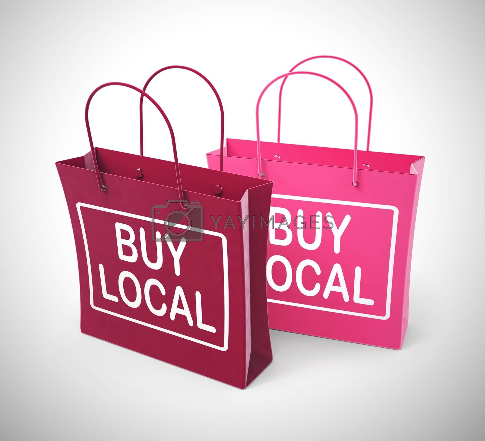 Royalty free image of Buy local concept icon for purchasing from a village community - by stuartmiles