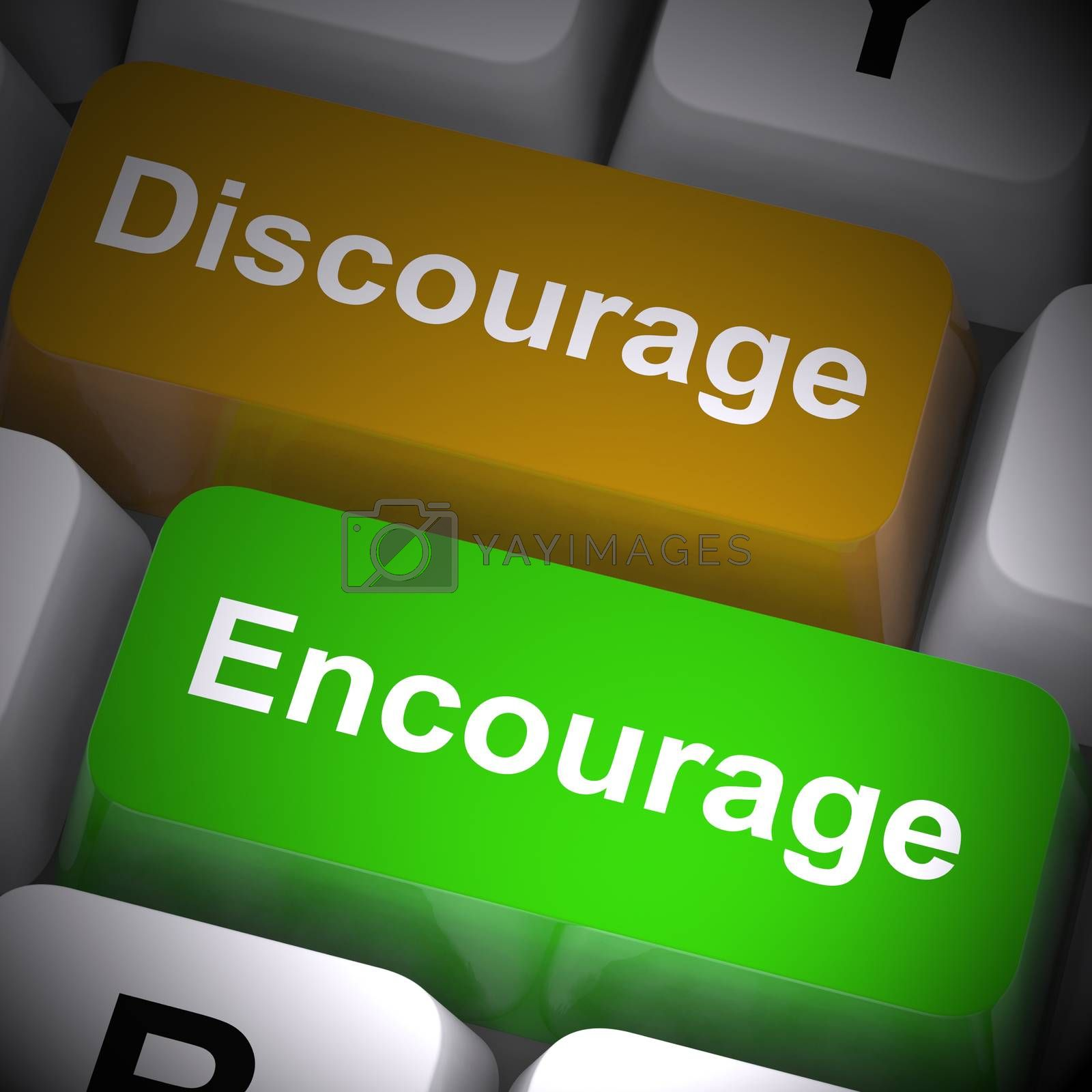 Royalty free image of Encourage concept icons means motivating and inspiring someone - by stuartmiles