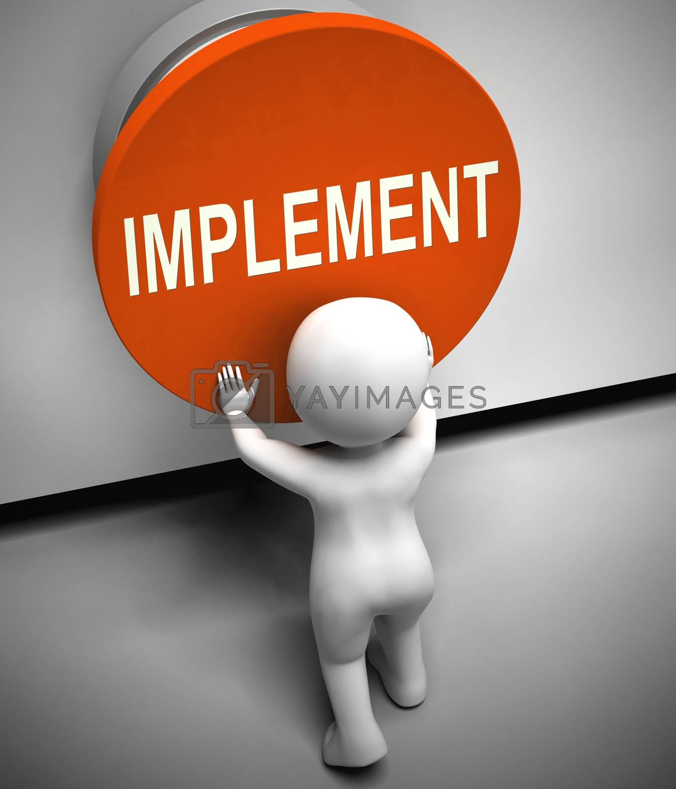 Royalty free image of Implement concept icon means to carry out the plan and execute a by stuartmiles