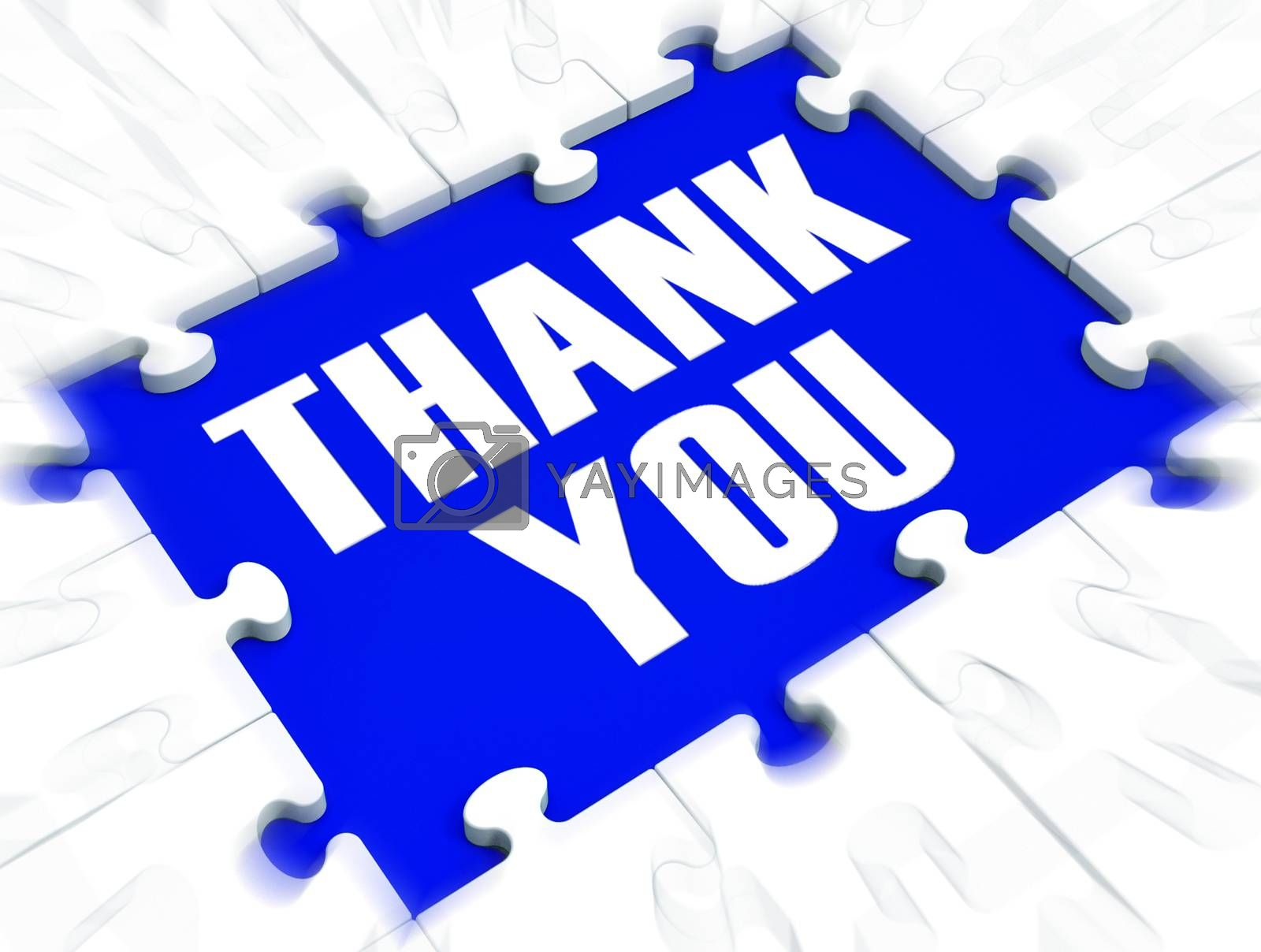 Royalty free image of Thank you message means much obliged and with gratitude - 3d ill by stuartmiles