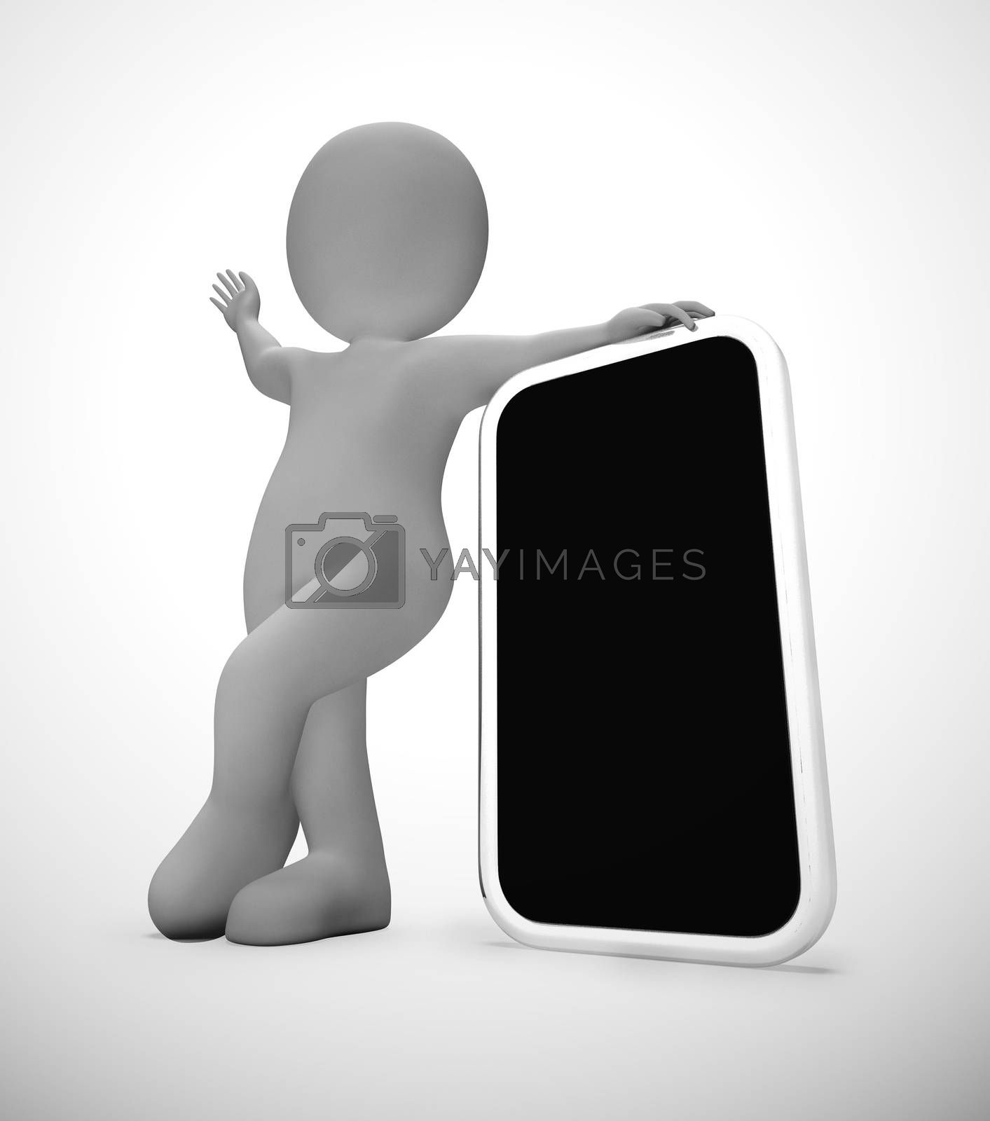 Royalty free image of Smartphone or cellular mobile device for apps and internet Mocku by stuartmiles