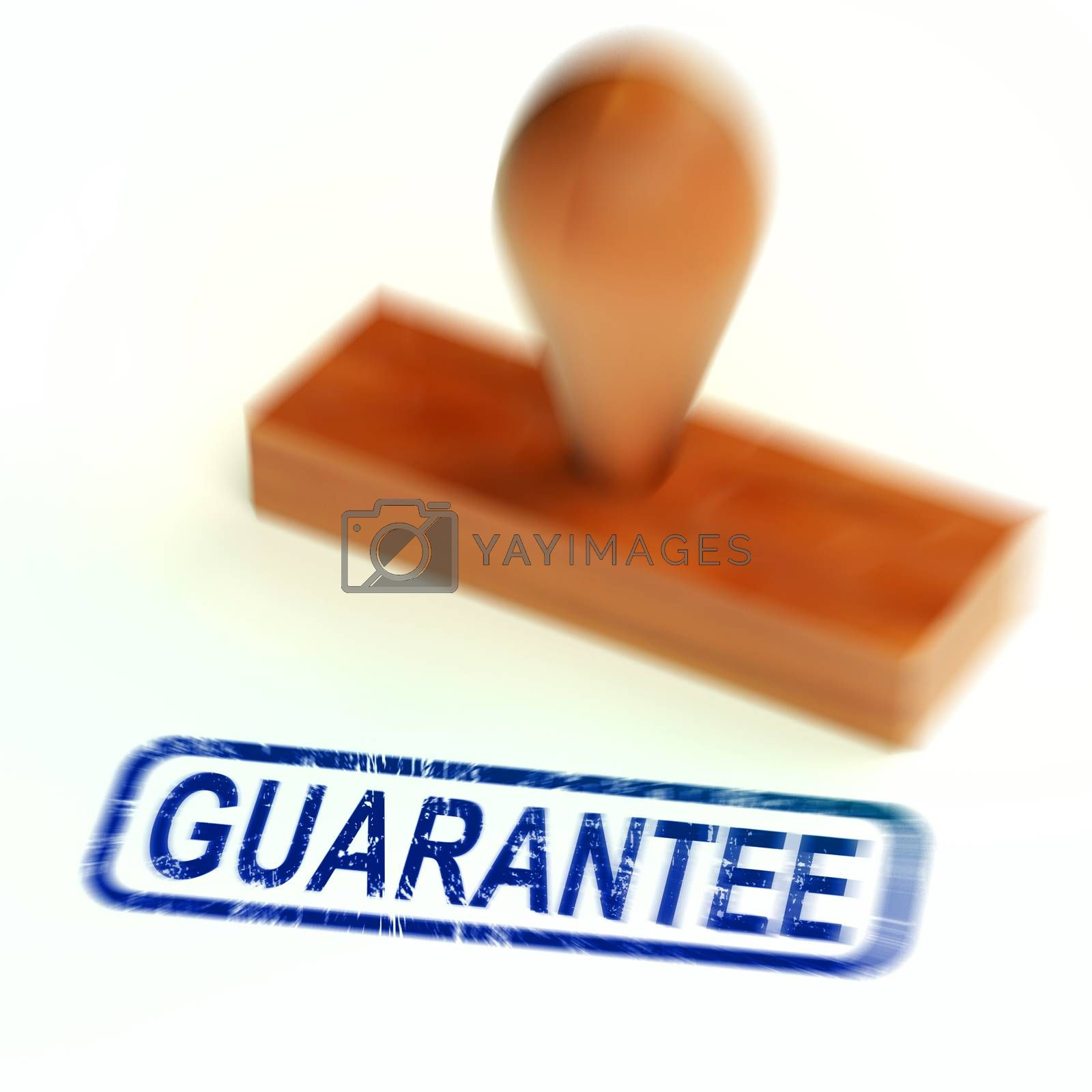 Royalty free image of Guarantee concept icon means a safeguard or insurance against pr by stuartmiles