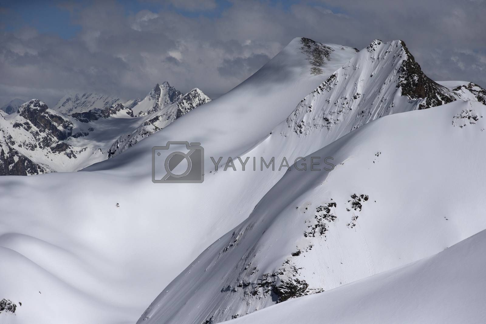 Royalty free image of Snow-covered mountain tops. Russia, Caucasus. by phortcach