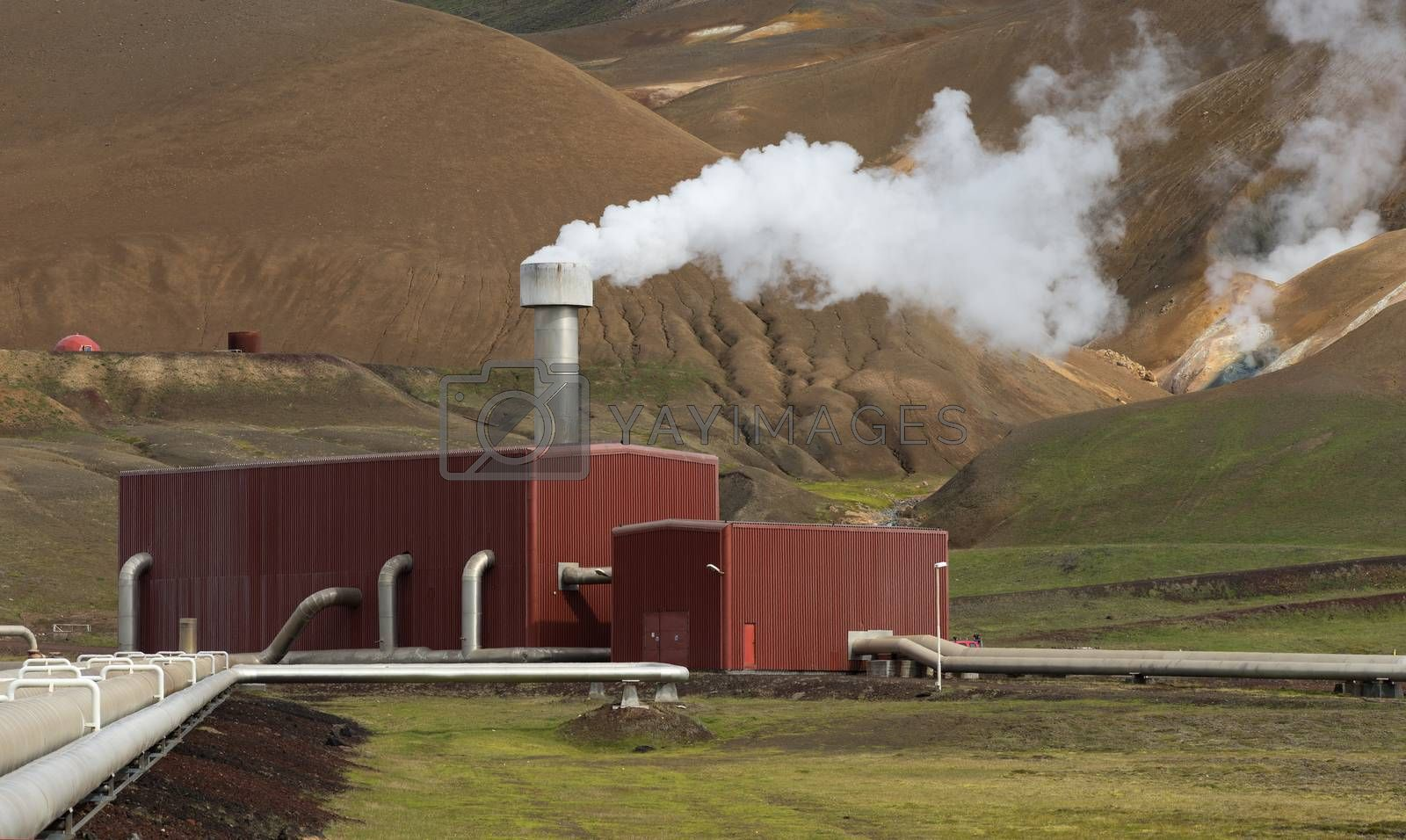Royalty free image of Krafla Geothermal Station in Northern Iceland  by phortcach