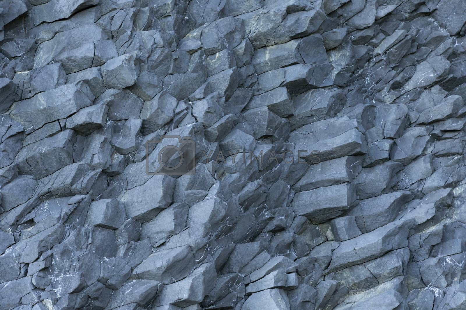 Royalty free image of basalt wall close up as background by phortcach