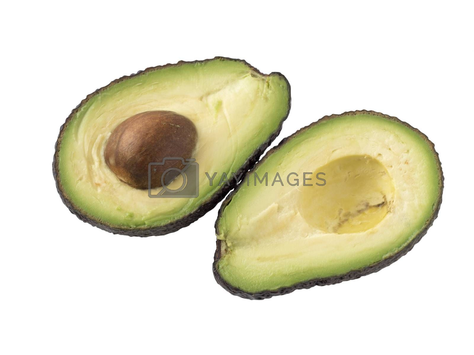 Royalty free image of Avocado isolated on white background. by phortcach