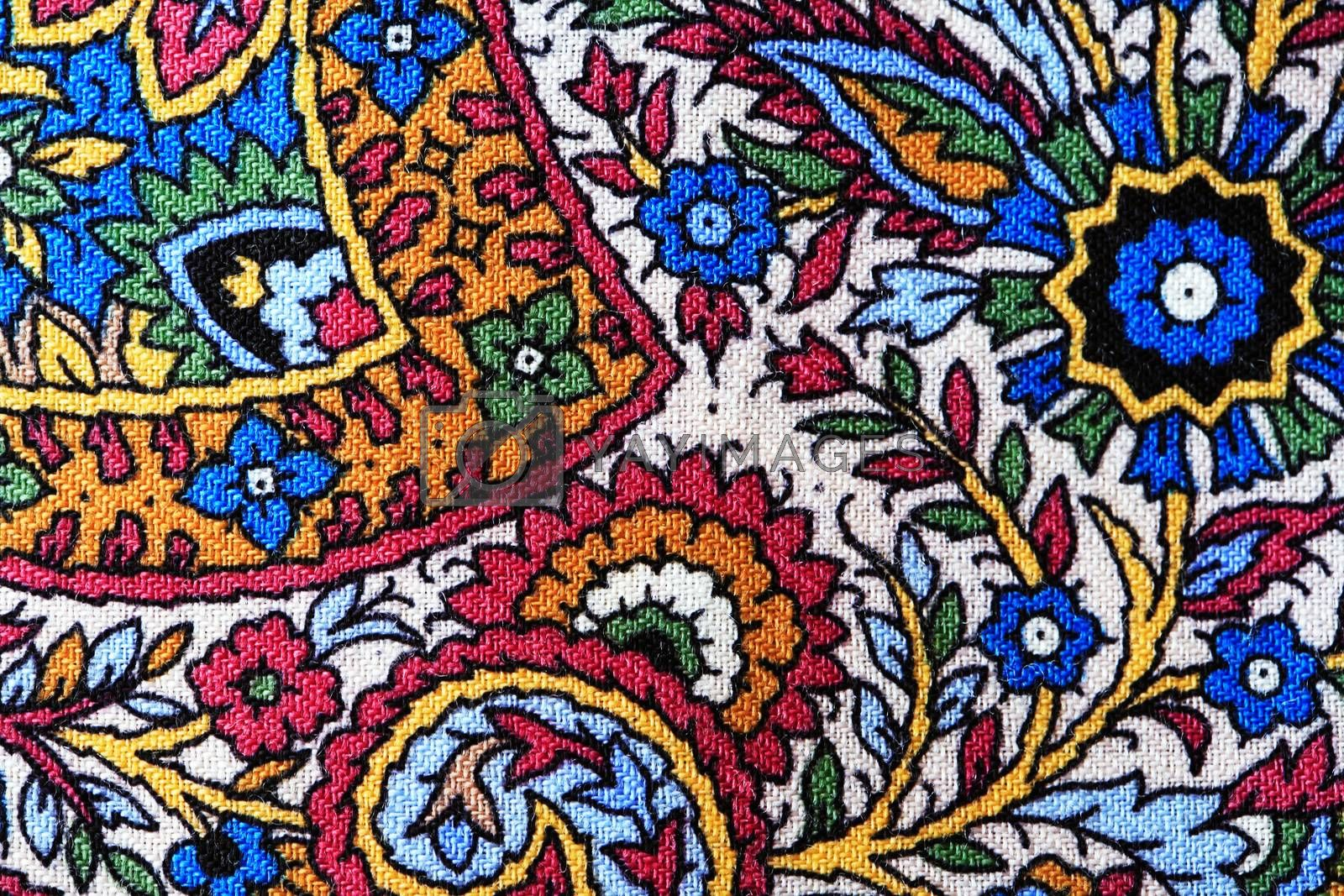 Royalty free image of Bright Fabric Background by kvkirillov