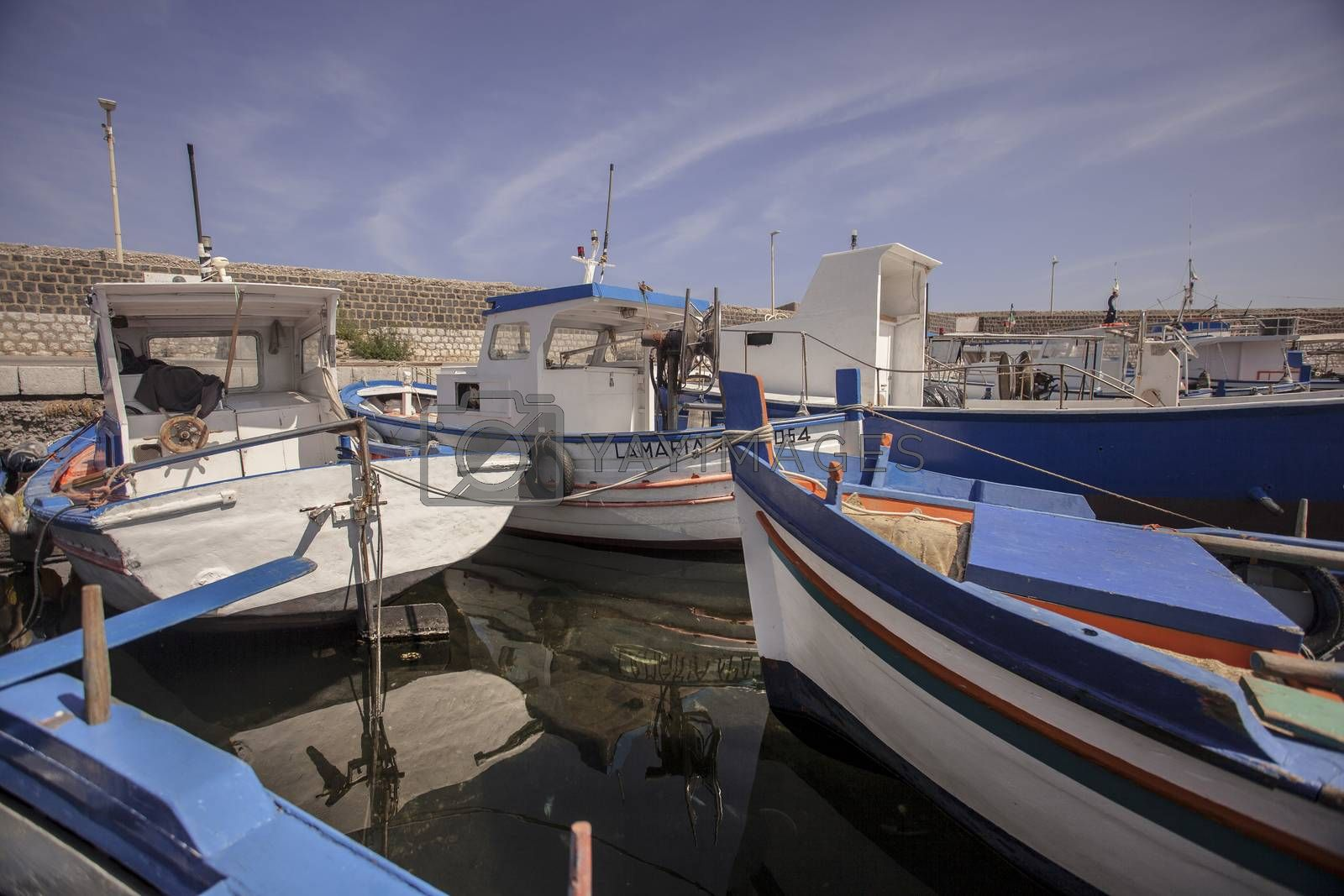 Royalty free image of View of the port of Bagnera in the locality of Porticello near Palermo in Sicily by pippocarlot