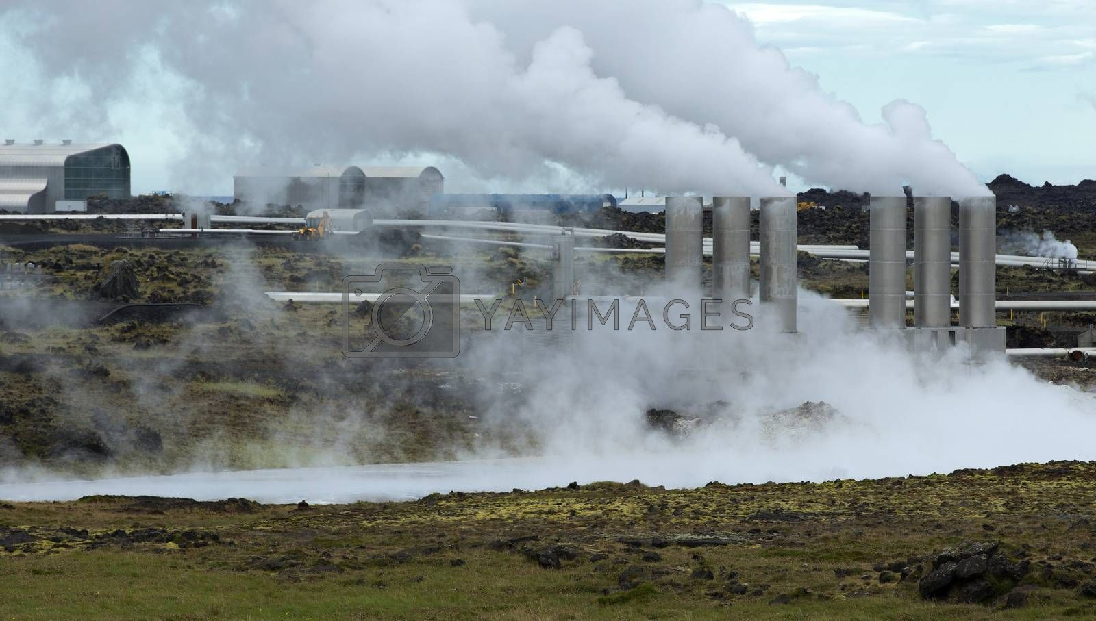 Royalty free image of Geothermal Power Plant by phortcach