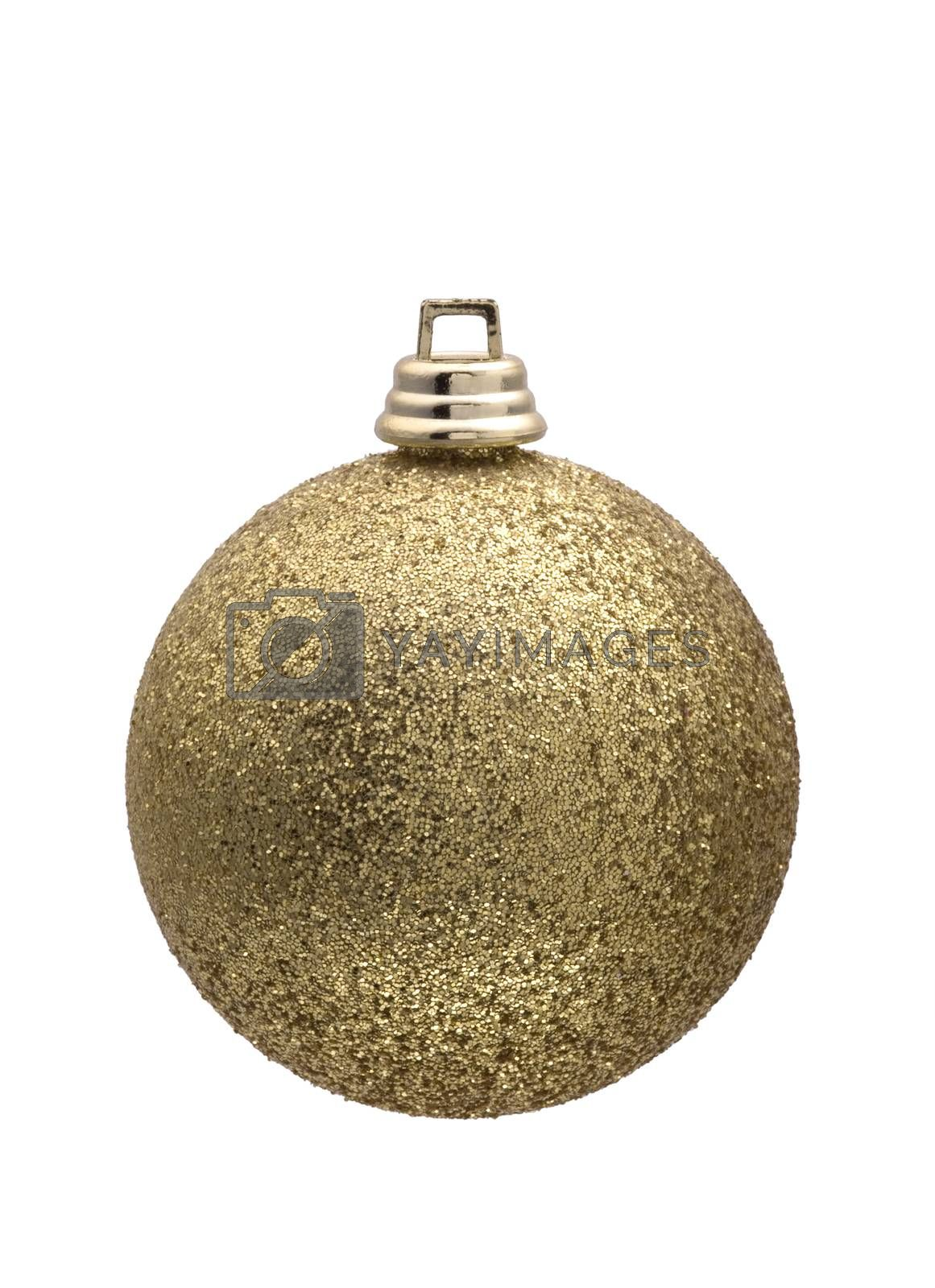 Royalty free image of golden christmas ball by phortcach