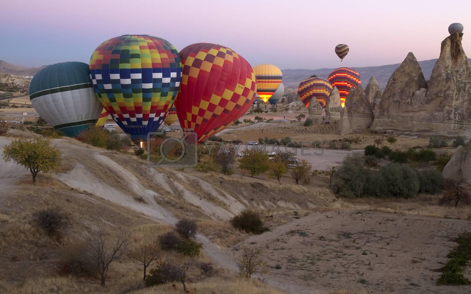 Royalty free image of Hot Air Balloons Over Cappadocia by phortcach