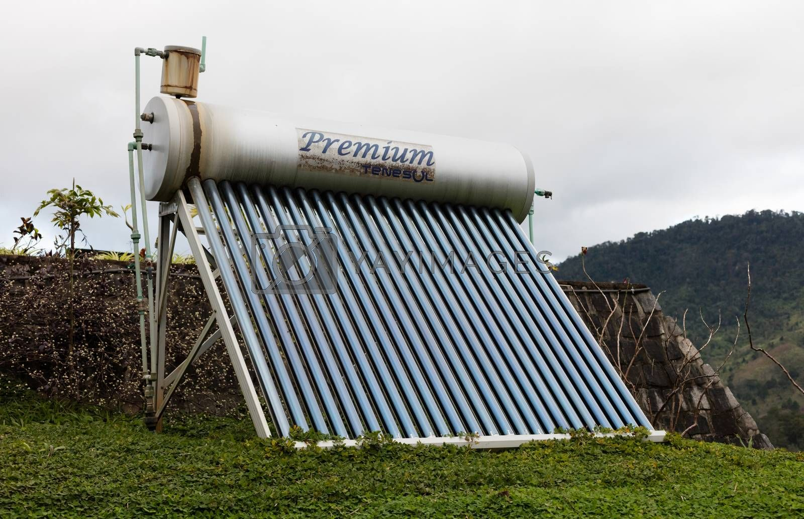 Royalty free image of Solar Thermal Flat Panel by michaklootwijk
