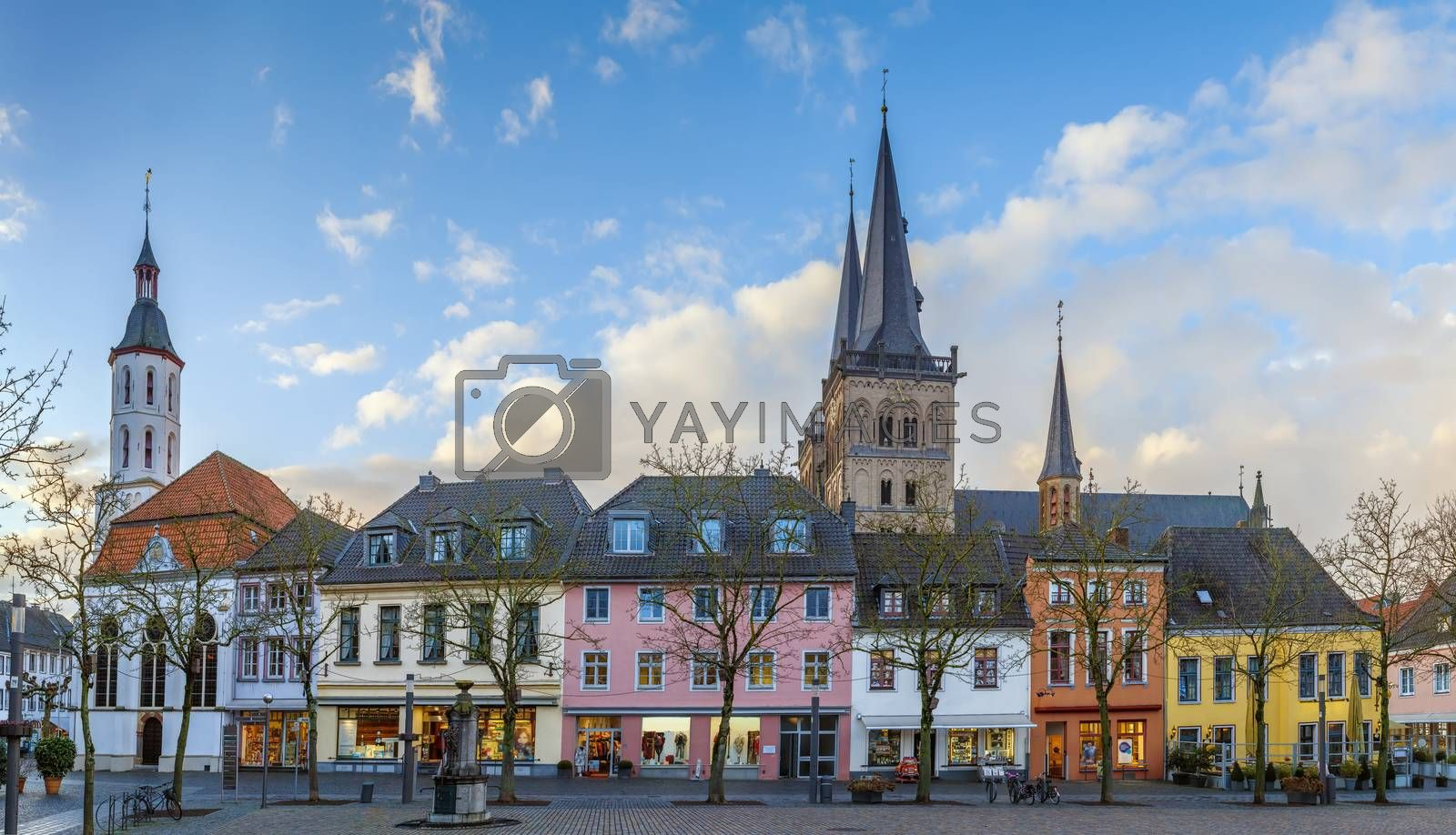 Royalty free image of Xanten Market Square, Germany by borisb17