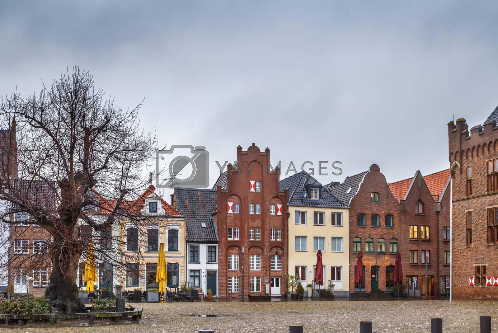 Royalty free image of Market square in Kalkar, Germany by borisb17