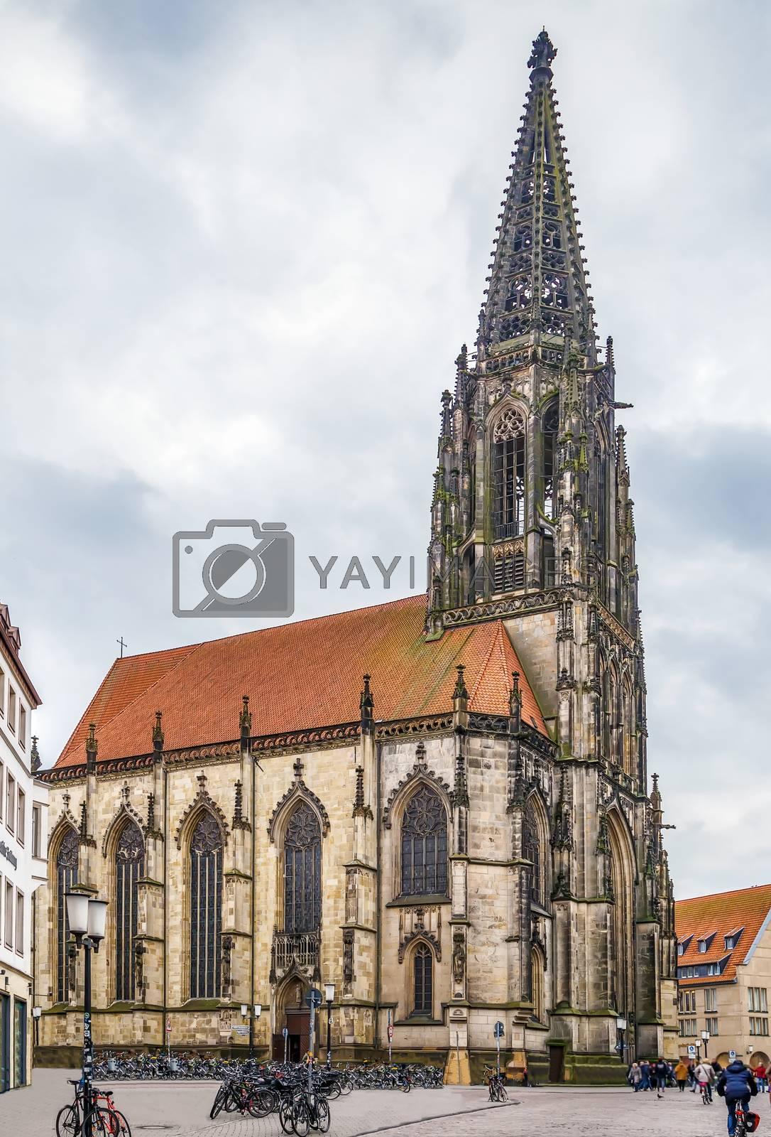 Royalty free image of St Lambert's Church, Münster by borisb17