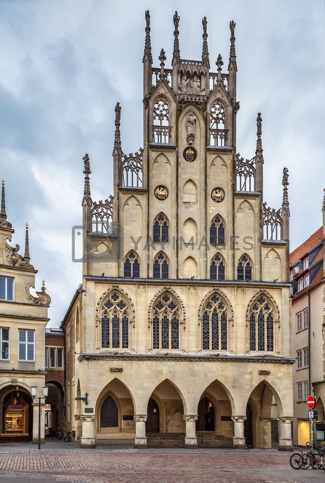 Royalty free image of Historical City Hall of Munster, Germany by borisb17