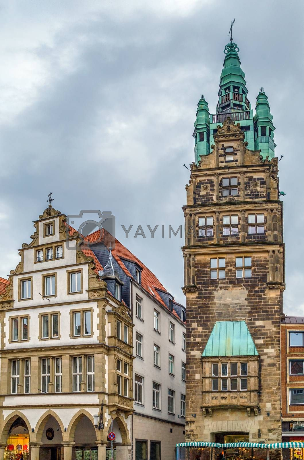 Royalty free image of Town Hall Tower, Munster, Germany by borisb17