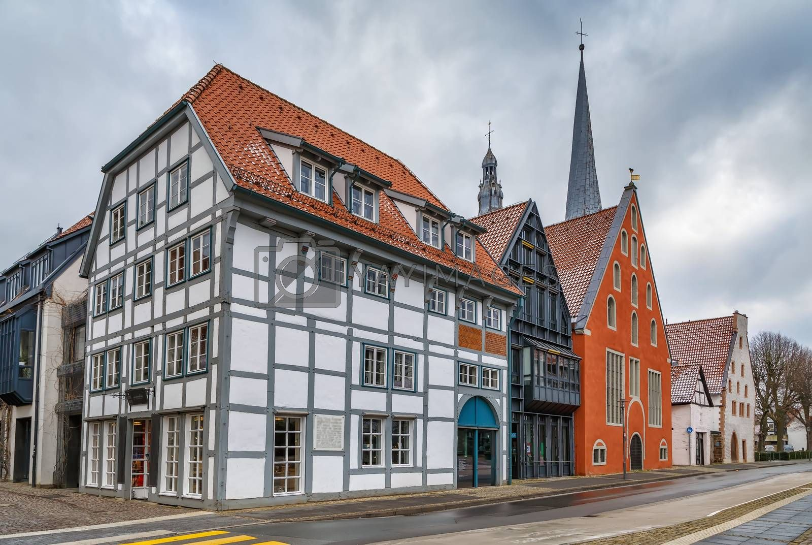 Royalty free image of Street in Lemgo, Germany by borisb17
