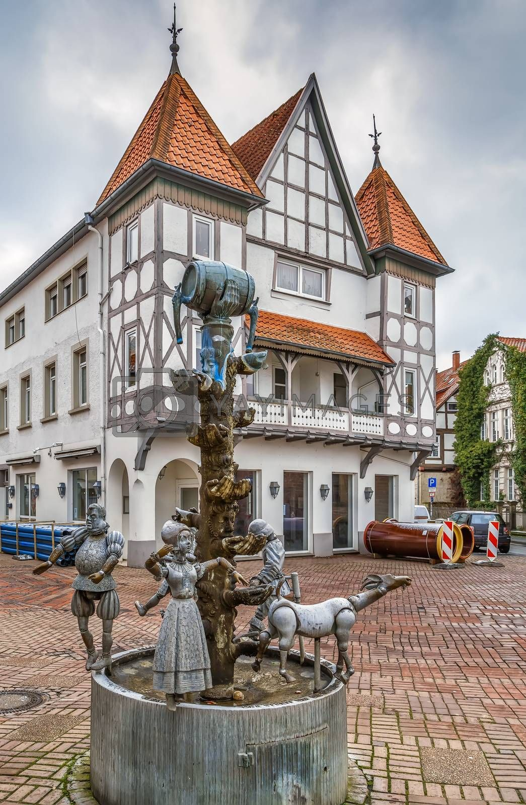 Royalty free image of Fountain in Lemgo, Germany by borisb17