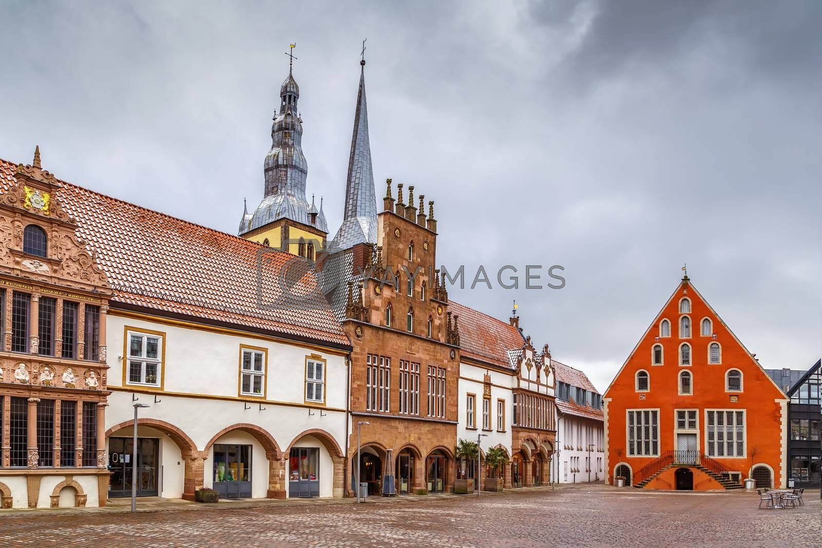 Royalty free image of Market Square of Lemgo, Germany by borisb17