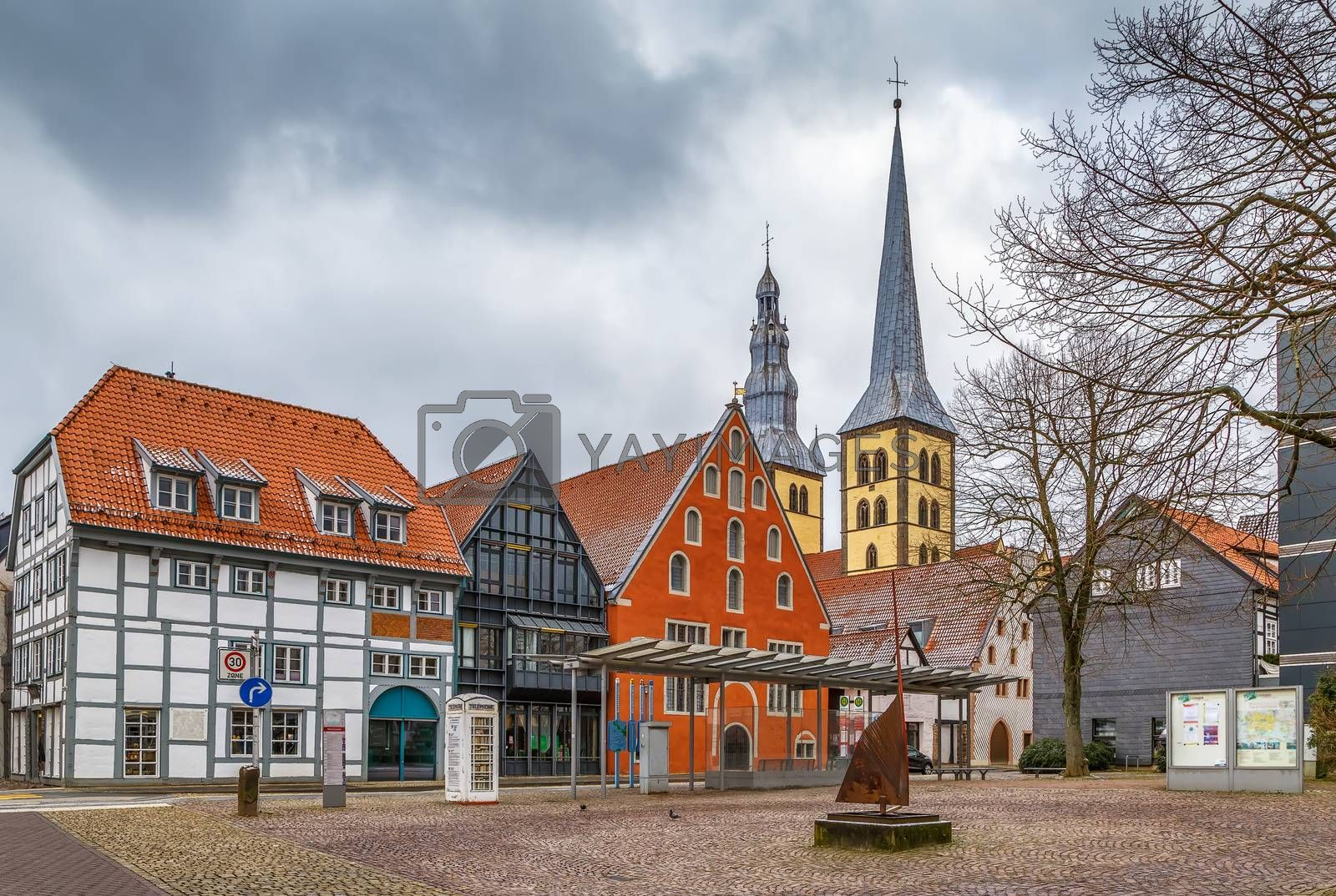 Royalty free image of Square in Lemgo, Germany by borisb17