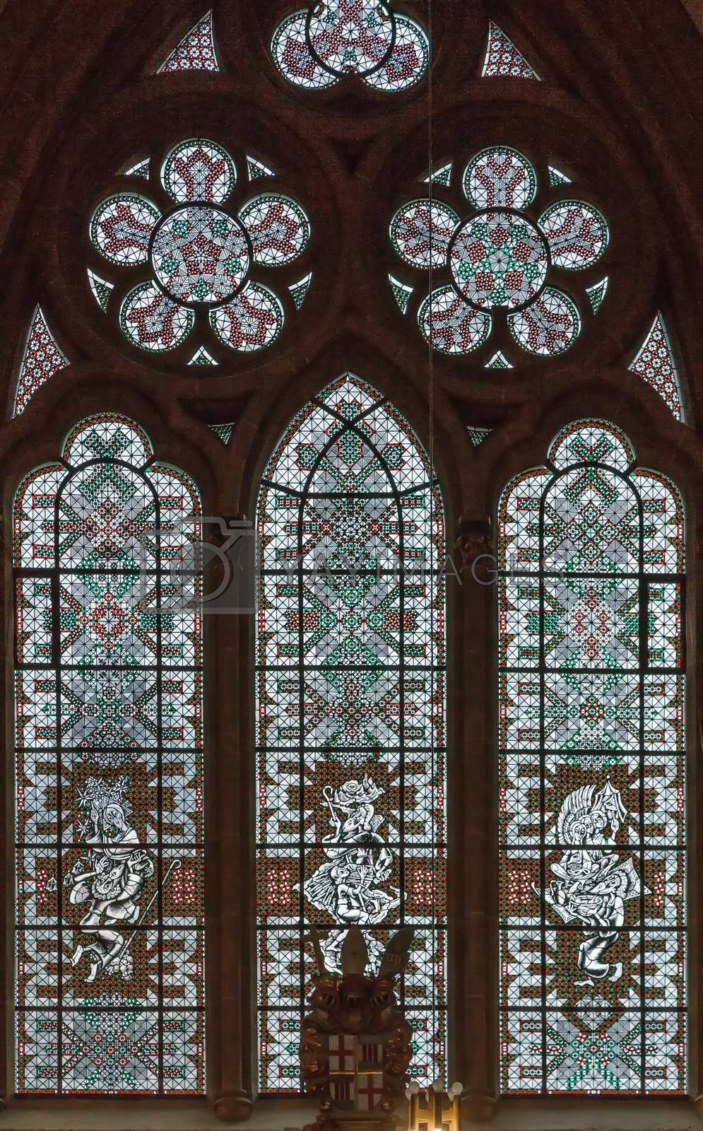 Royalty free image of Stained glass window, Germany by borisb17