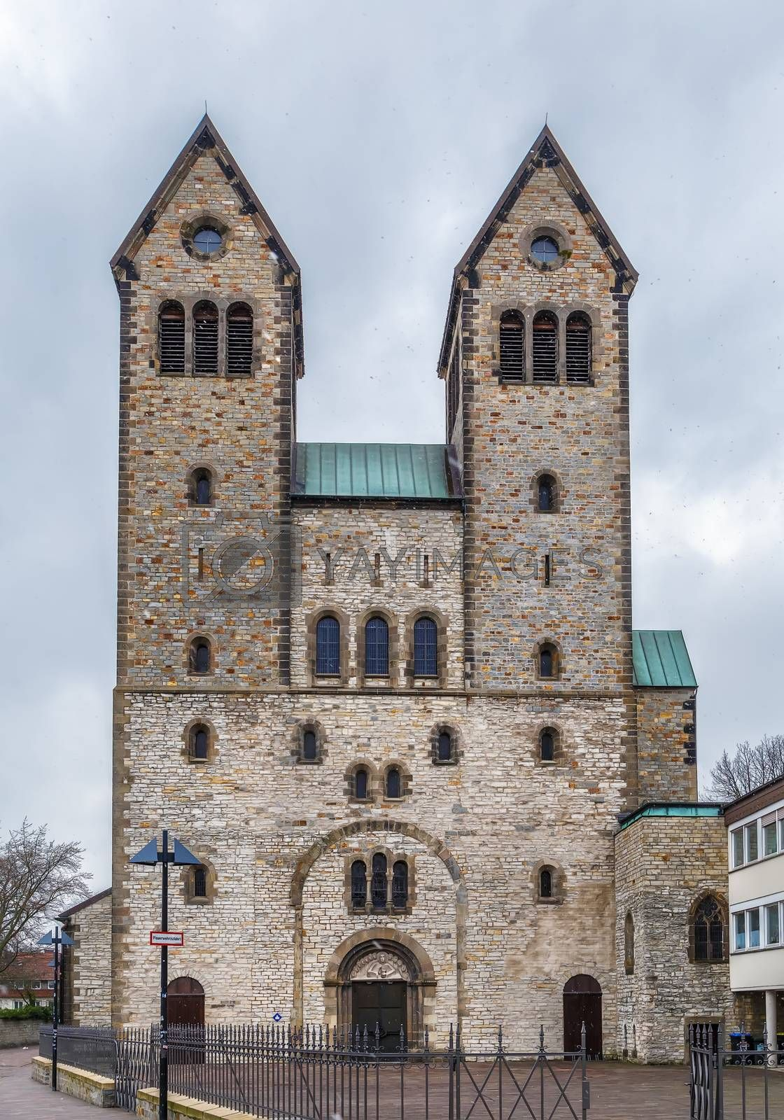 Royalty free image of The Abdinghof Church, Paderborn, Germany by borisb17