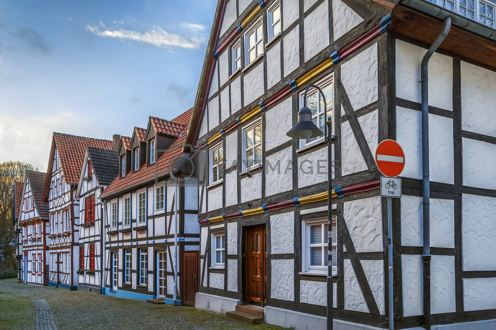 Royalty free image of Street in Paderborn, Germany by borisb17