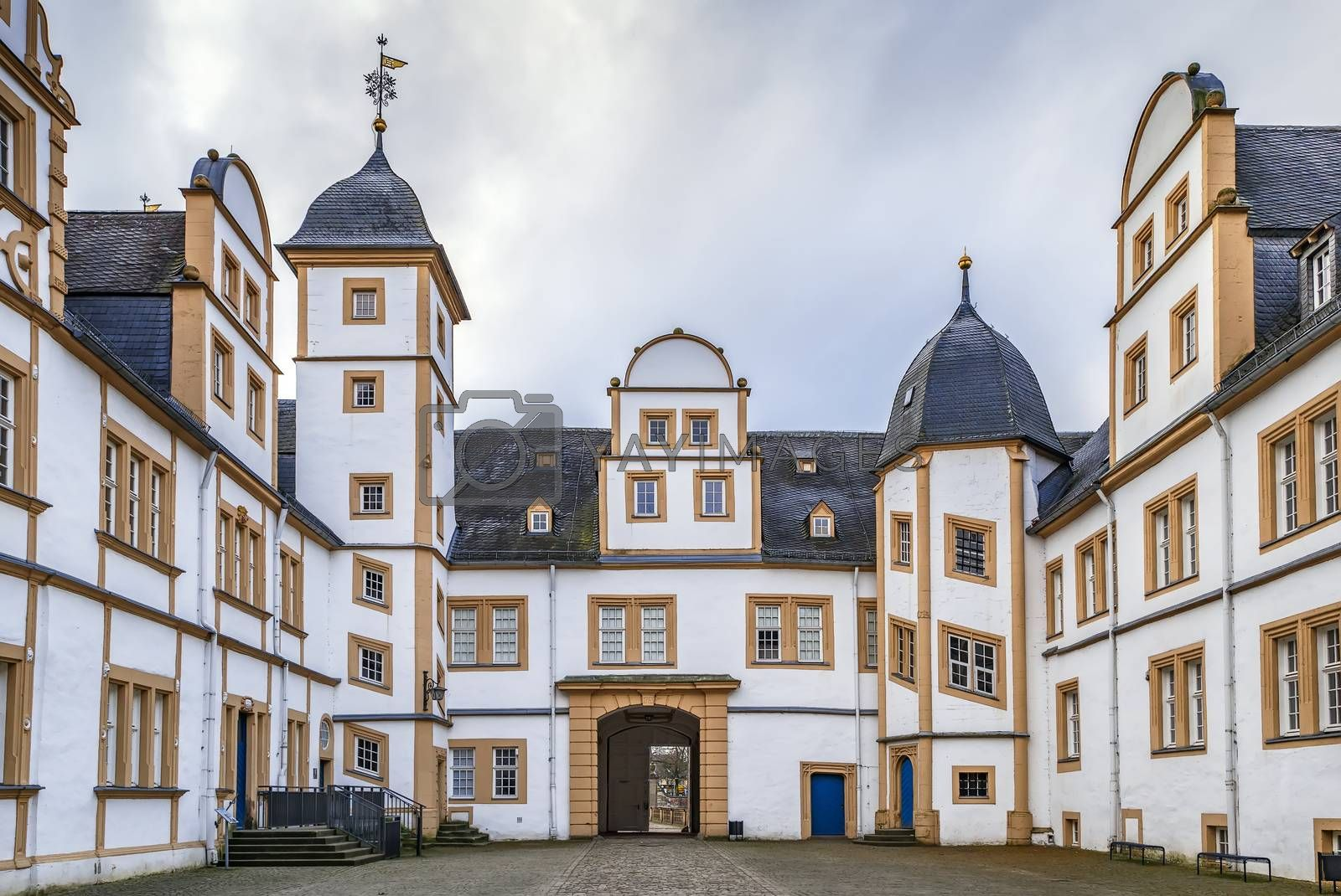 Royalty free image of Neuhaus Castle in Paderborn, Germany by borisb17