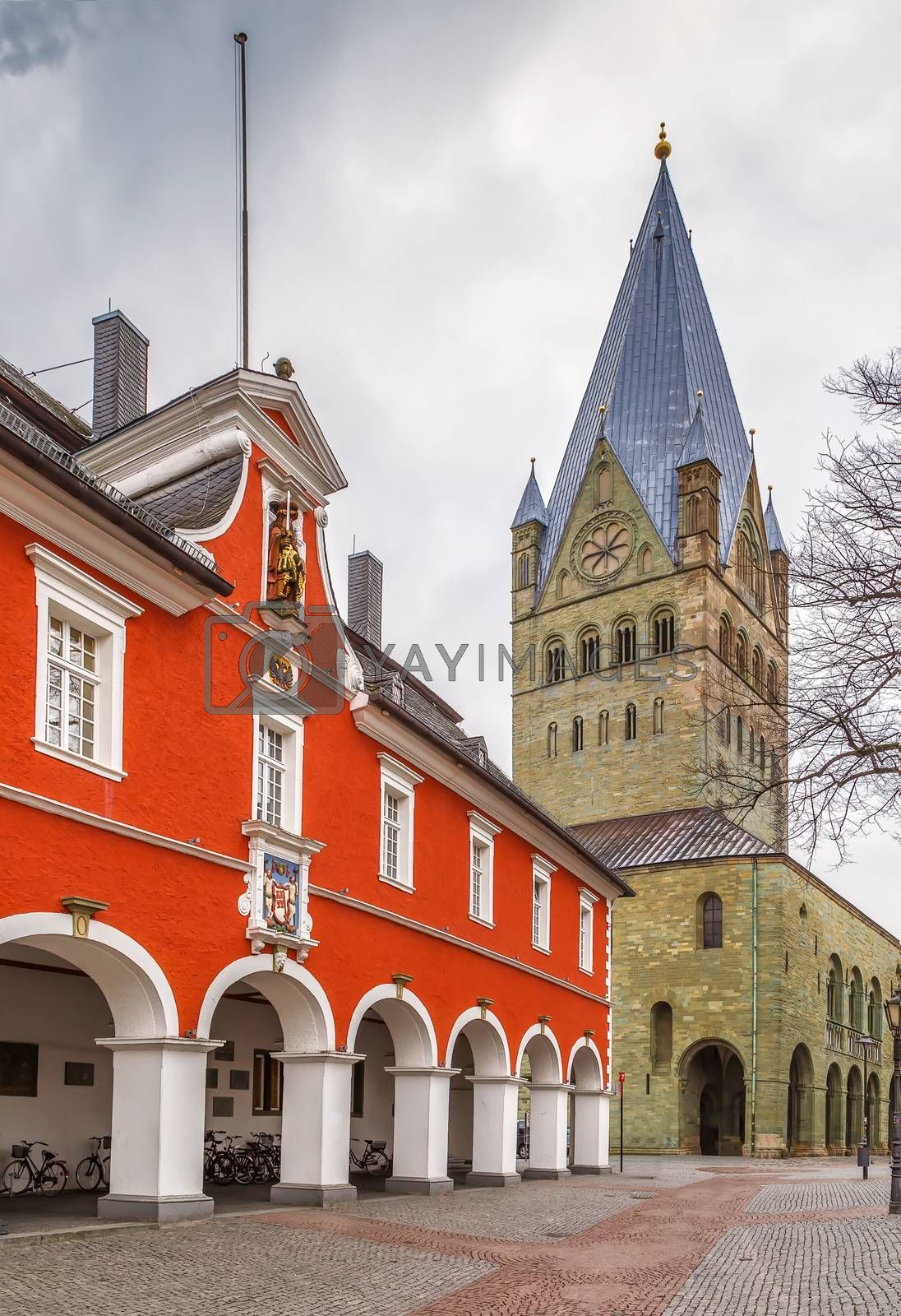 Royalty free image of St. Patroclus Cathedral, Soest, Germany by borisb17