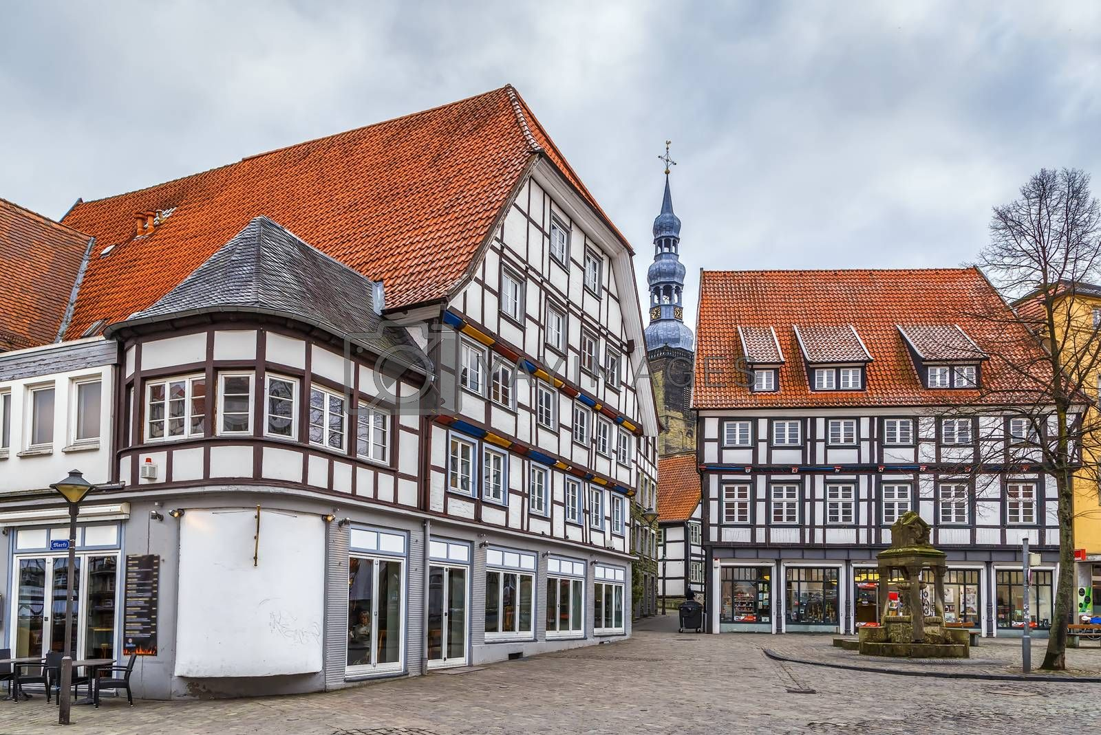 Royalty free image of Square in Soest, Germany by borisb17