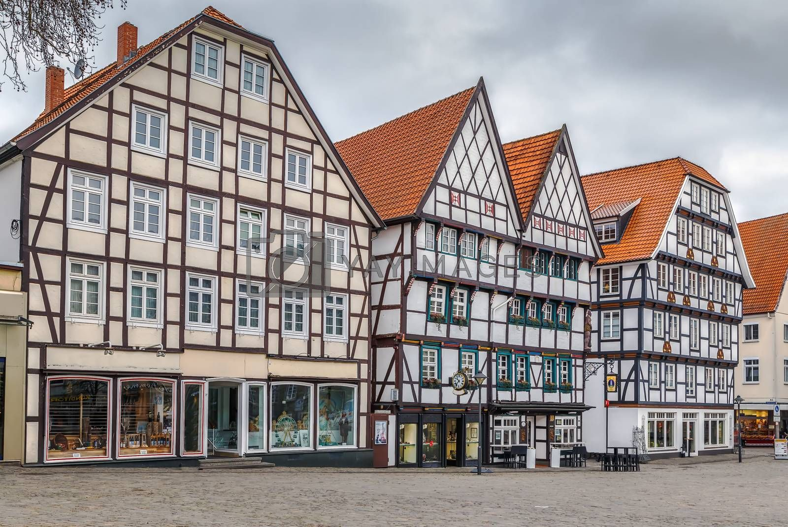 Royalty free image of Market square, Soest, Germany by borisb17