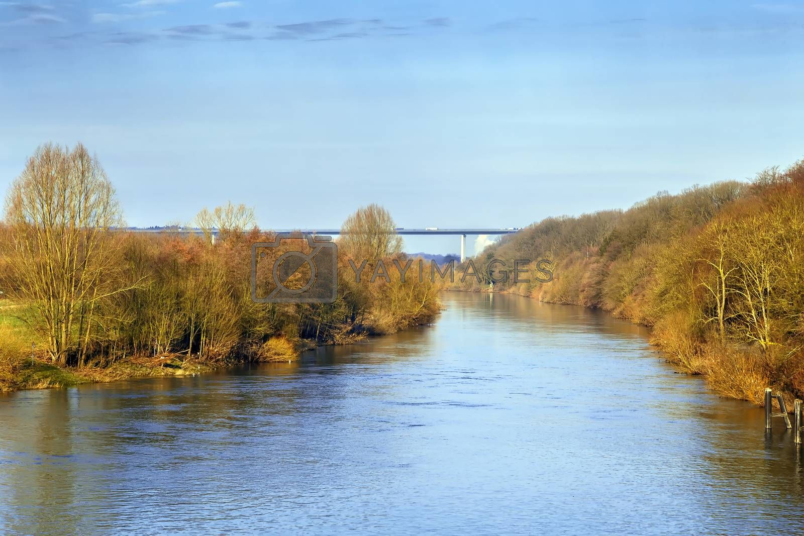 Royalty free image of View of Ruhr river, Germany by borisb17