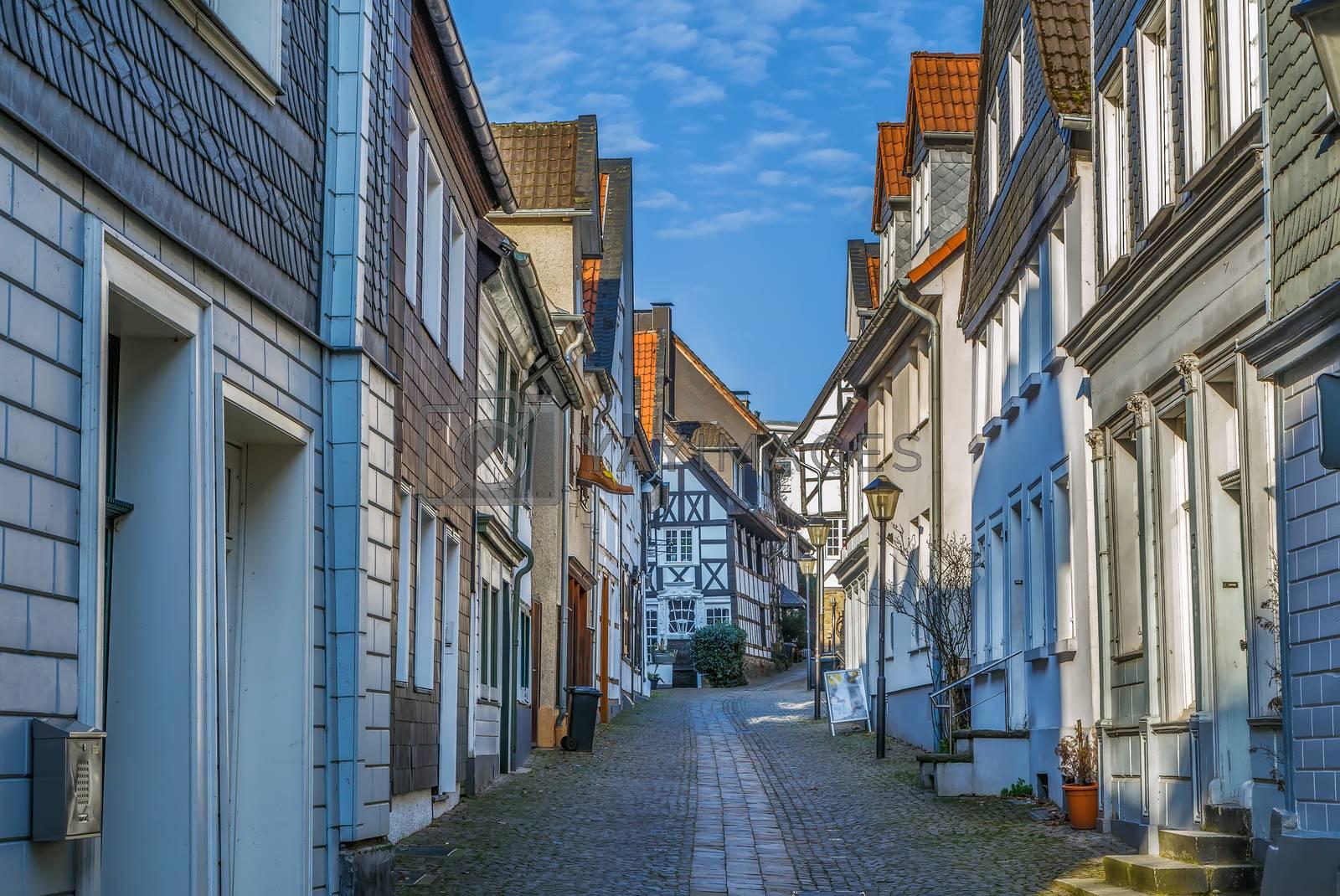 Royalty free image of Street in Kettwig, Germany by borisb17