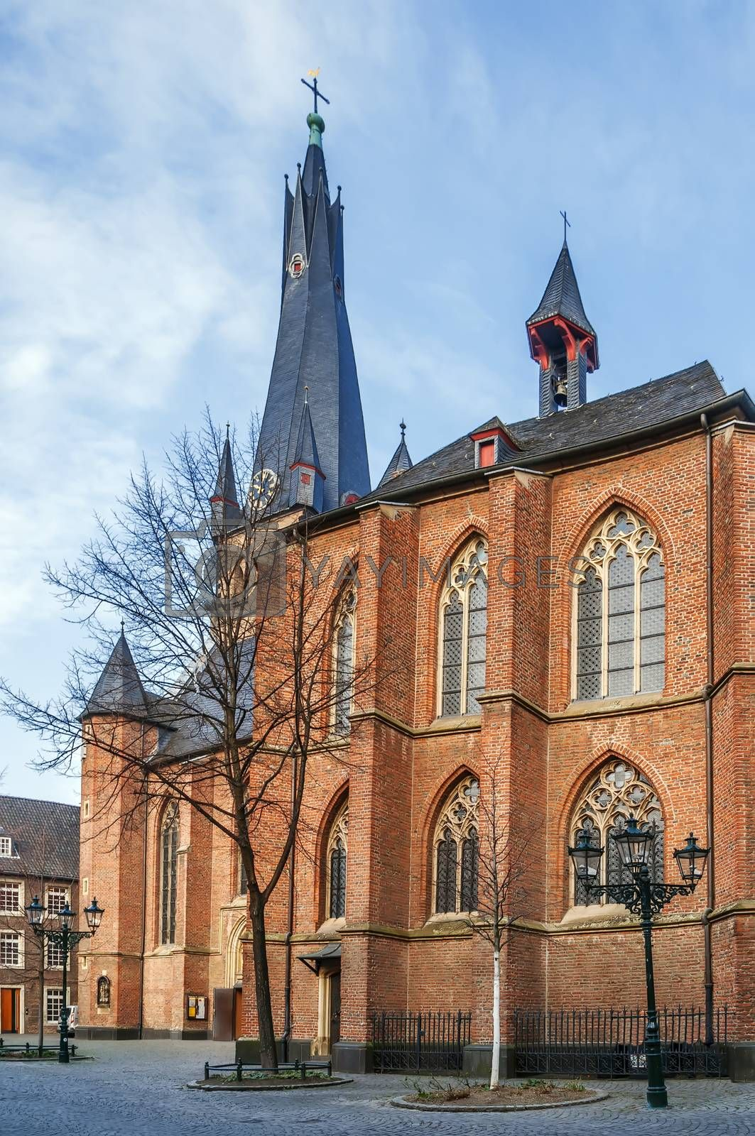 Royalty free image of St Lambertus Basilica, Dusseldorf, Germany by borisb17