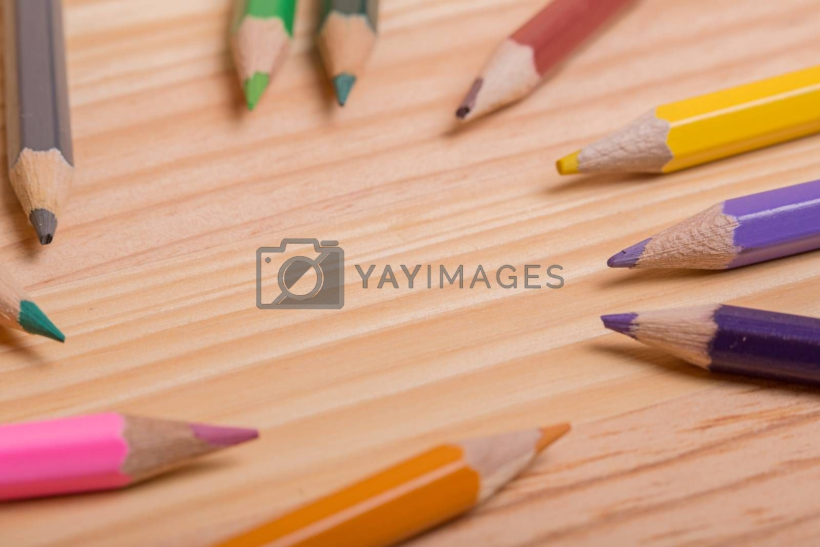 Royalty free image of colorful pencils by zittto