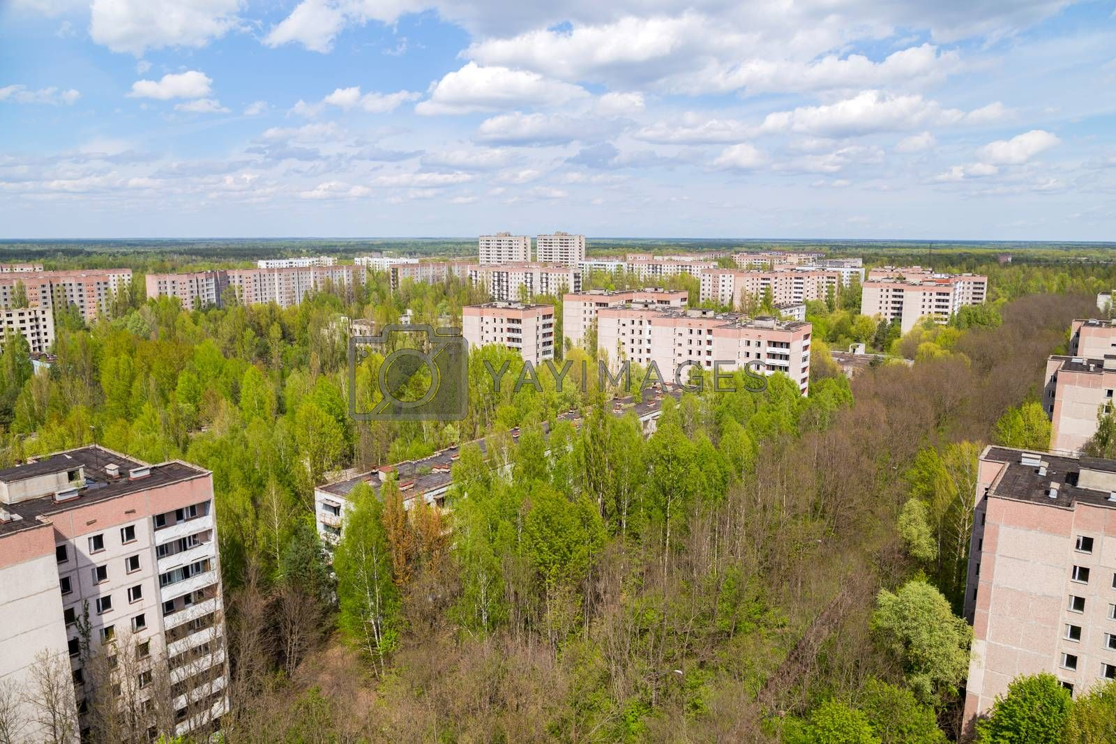 Royalty free image of Pripyat city in Chernobyl by zittto