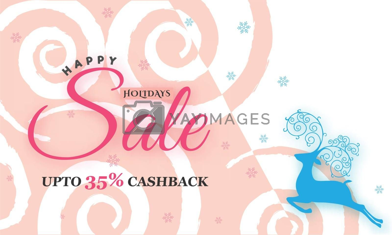 Royalty free image of Creative Holiday Sale Poster with 35% Discount offer, Promotiona by aispl