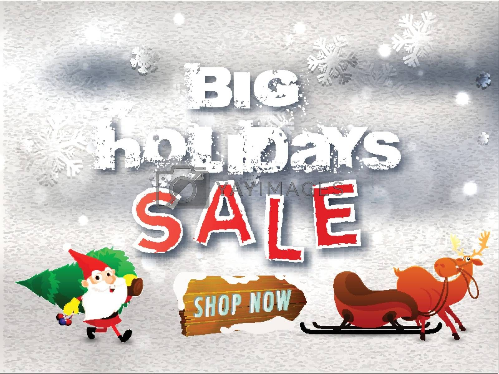 Royalty free image of Beautiful Big Holidays Sale Poster, Promotional, Advertising Ban by aispl
