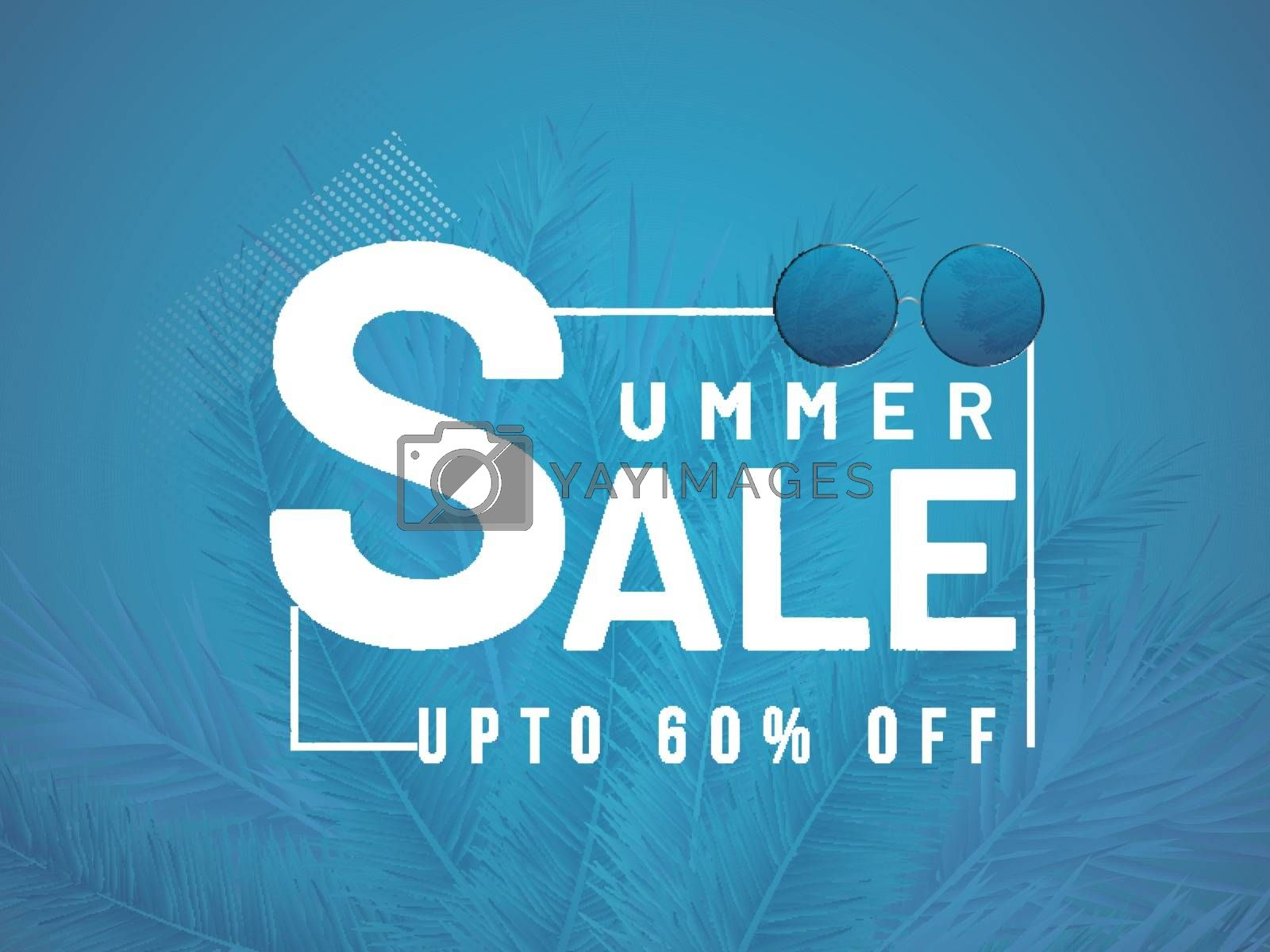 Royalty free image of Summer sale banner or poster design with 60% discount offer and  by aispl