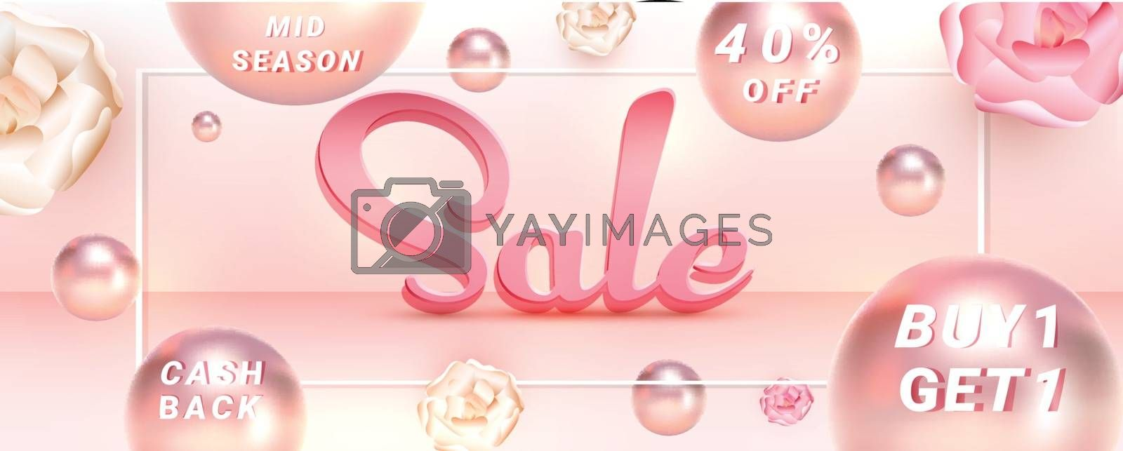 Royalty free image of Creative sale header or banner design with 40% discount offer an by aispl