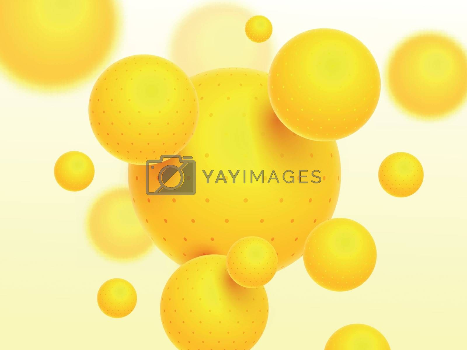 Royalty free image of Glossy yellow abstract elements decorated background. by aispl