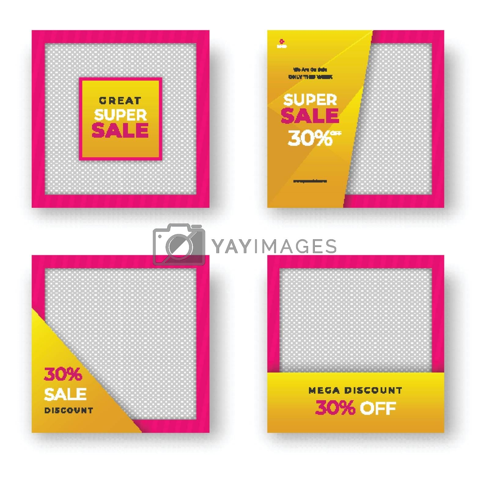 Royalty free image of Collection of Sale template or poster design with different disc by aispl