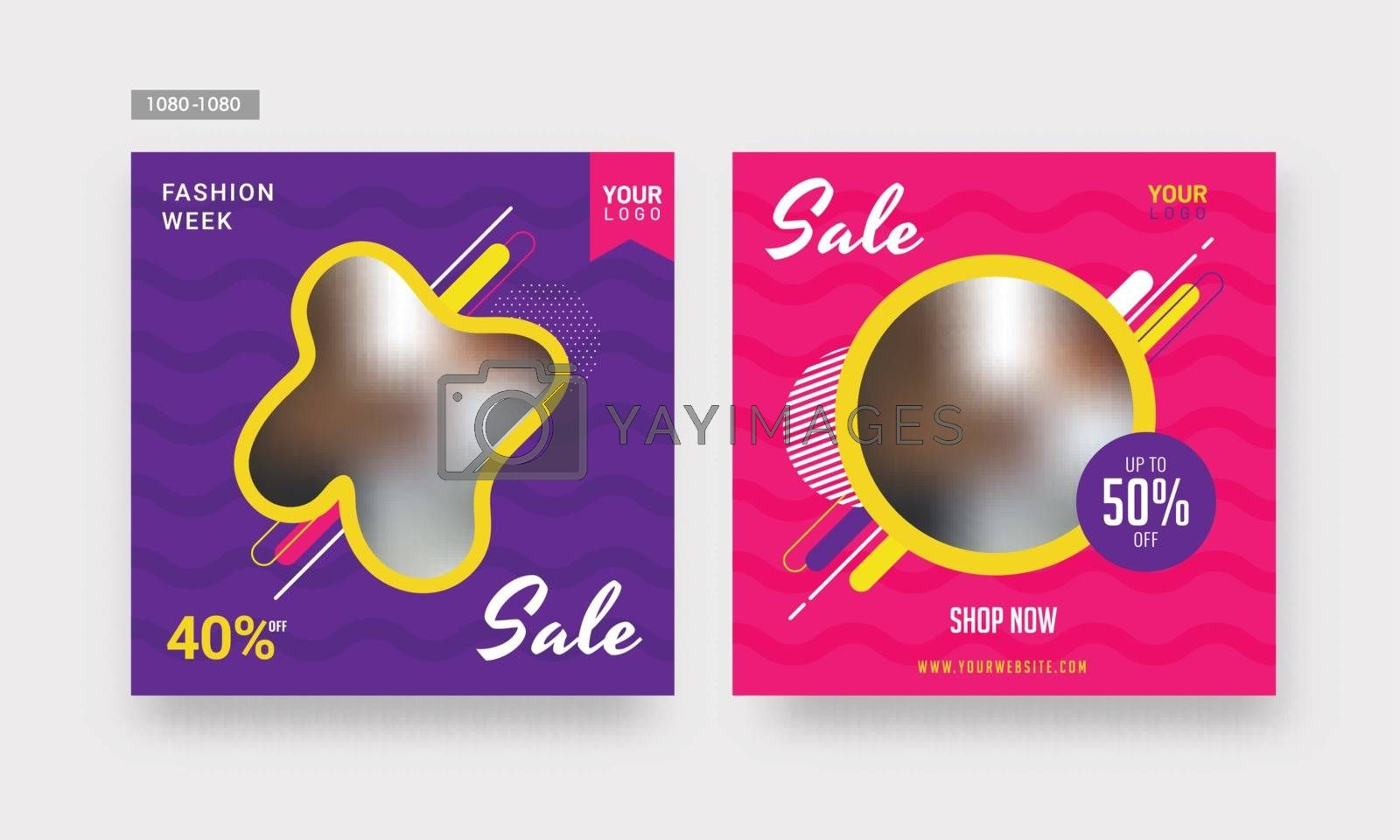 Royalty free image of Sale template or poster design with different discount offer on  by aispl
